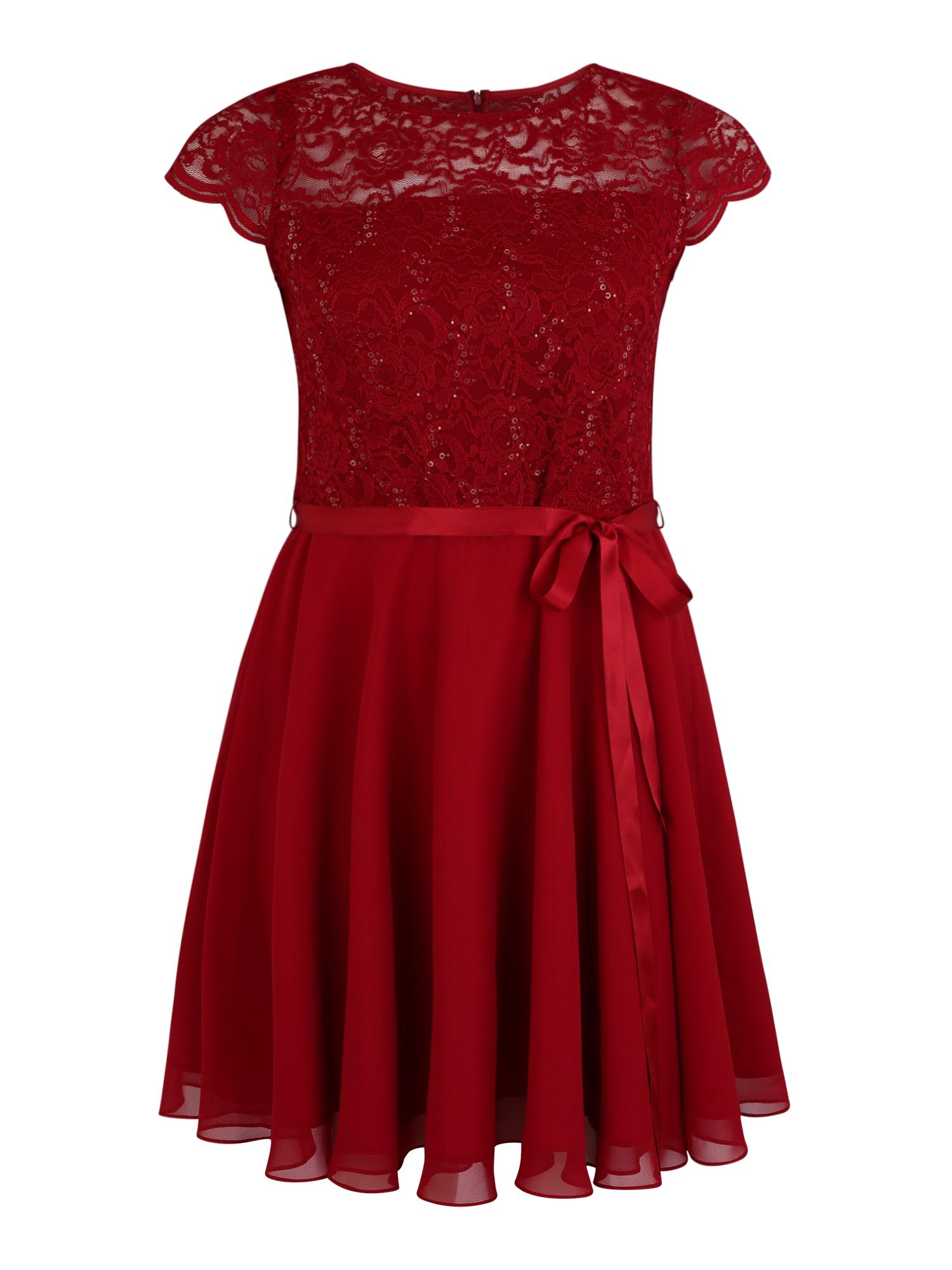 Koktejlové šaty burgundská červeň SWING Curve