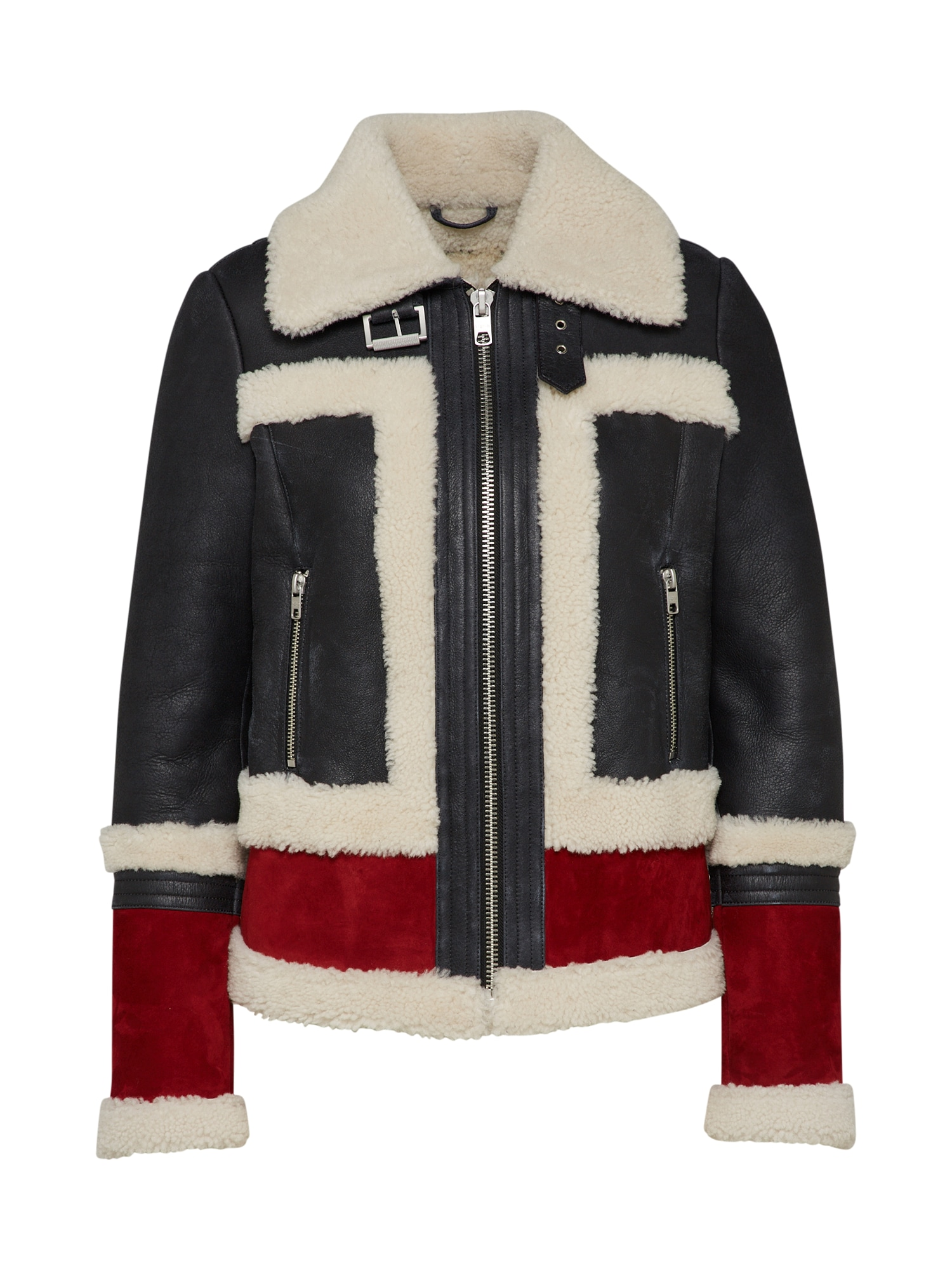 Zimní bunda Anna-Maria červená černá Tigha
