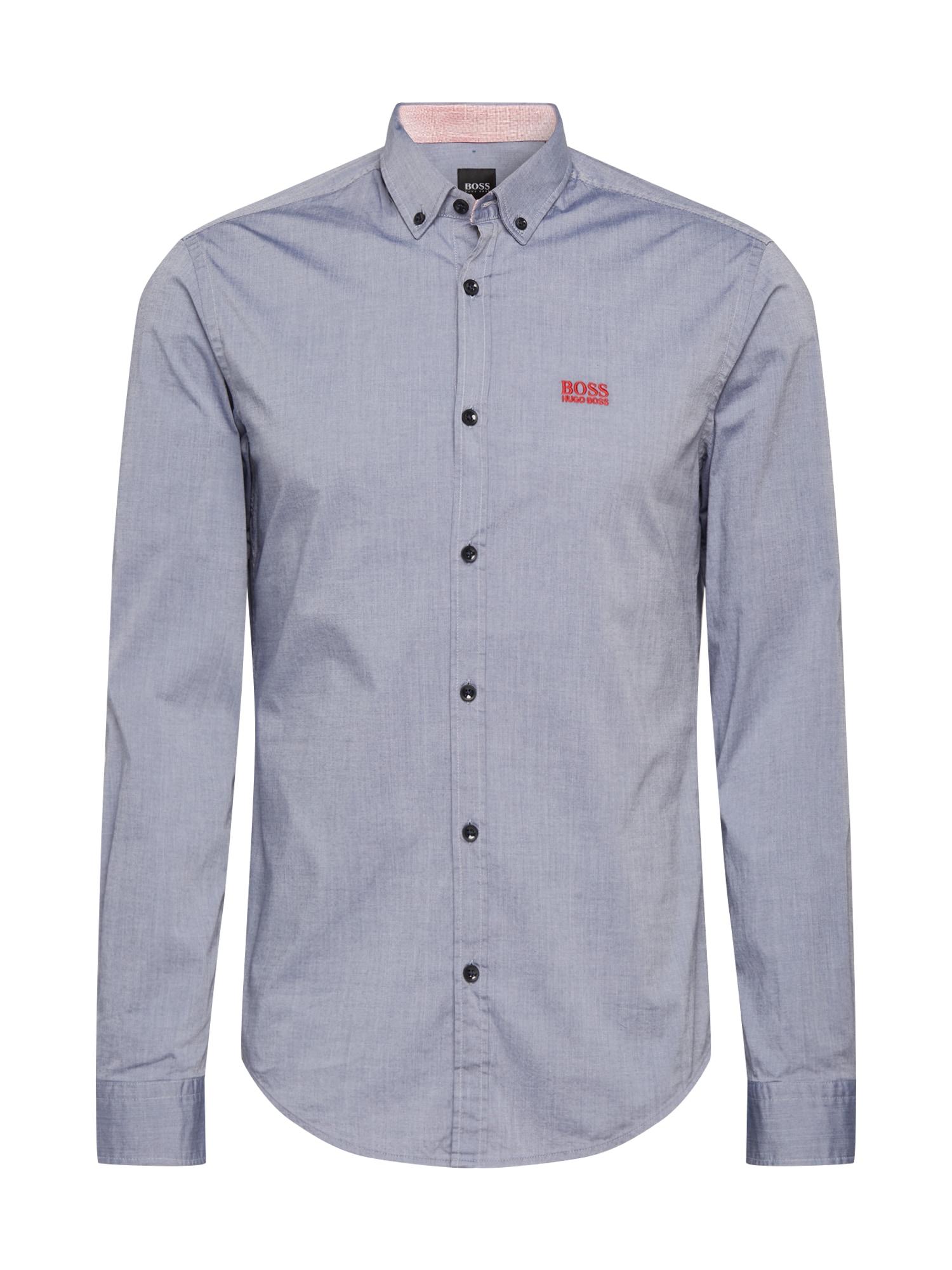 BOSS ATHLEISURE Košile  modrá