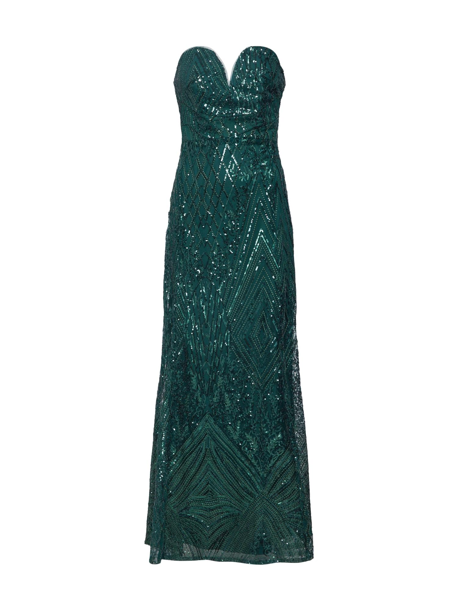 Společenské šaty SAMAIRA MAXI smaragdová TFNC