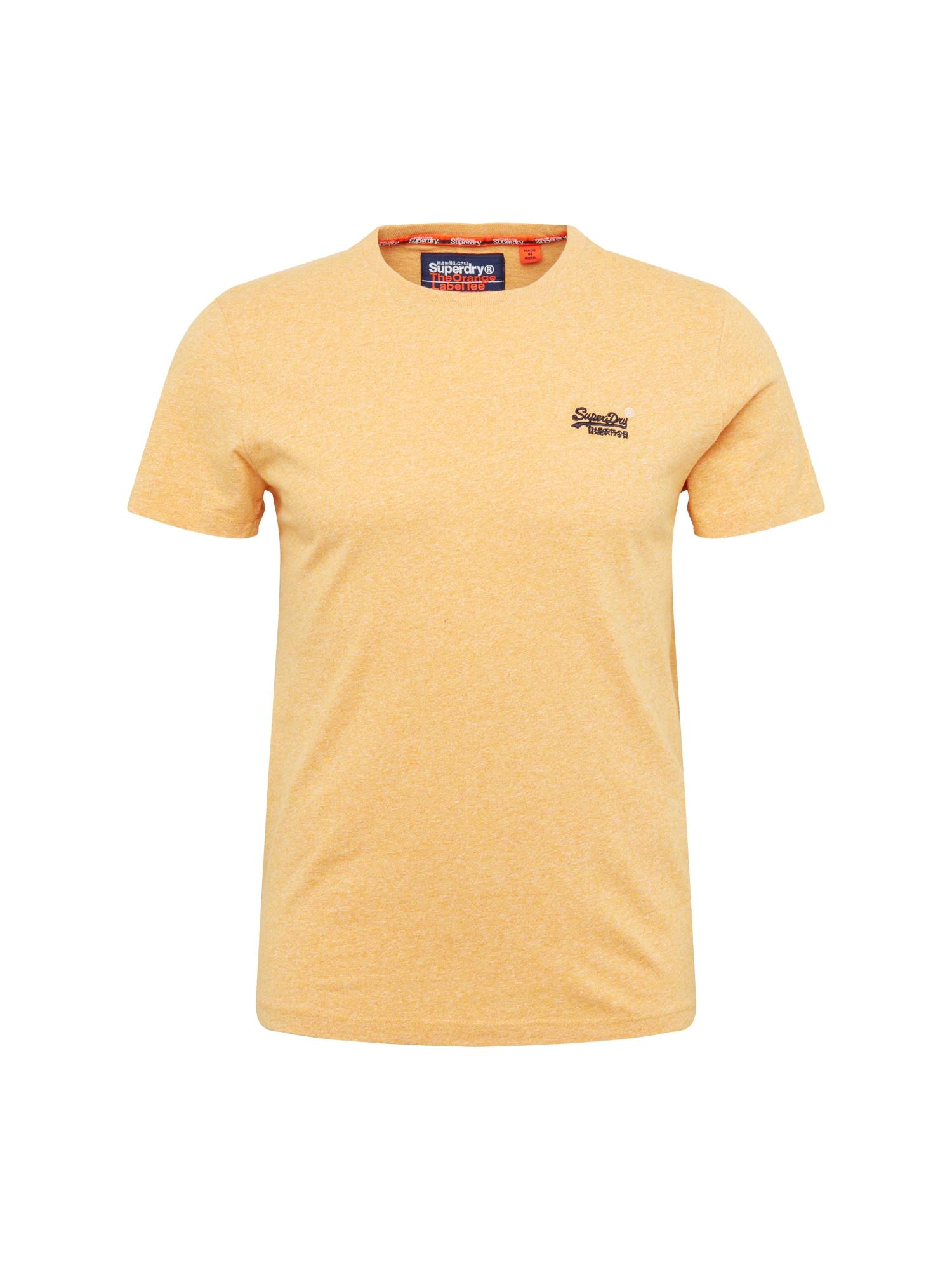 Tričko žlutá černá bílá Superdry