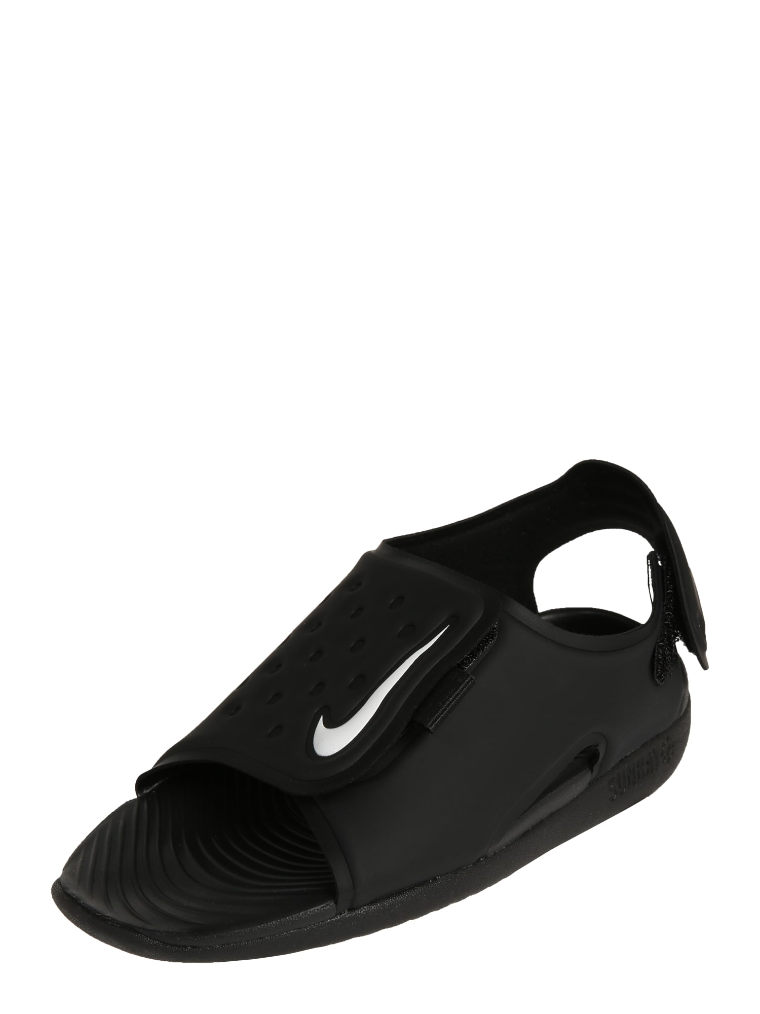 Nike Sportswear, Jongens Open schoenen 'Sunray Adjust 5', zwart / wit