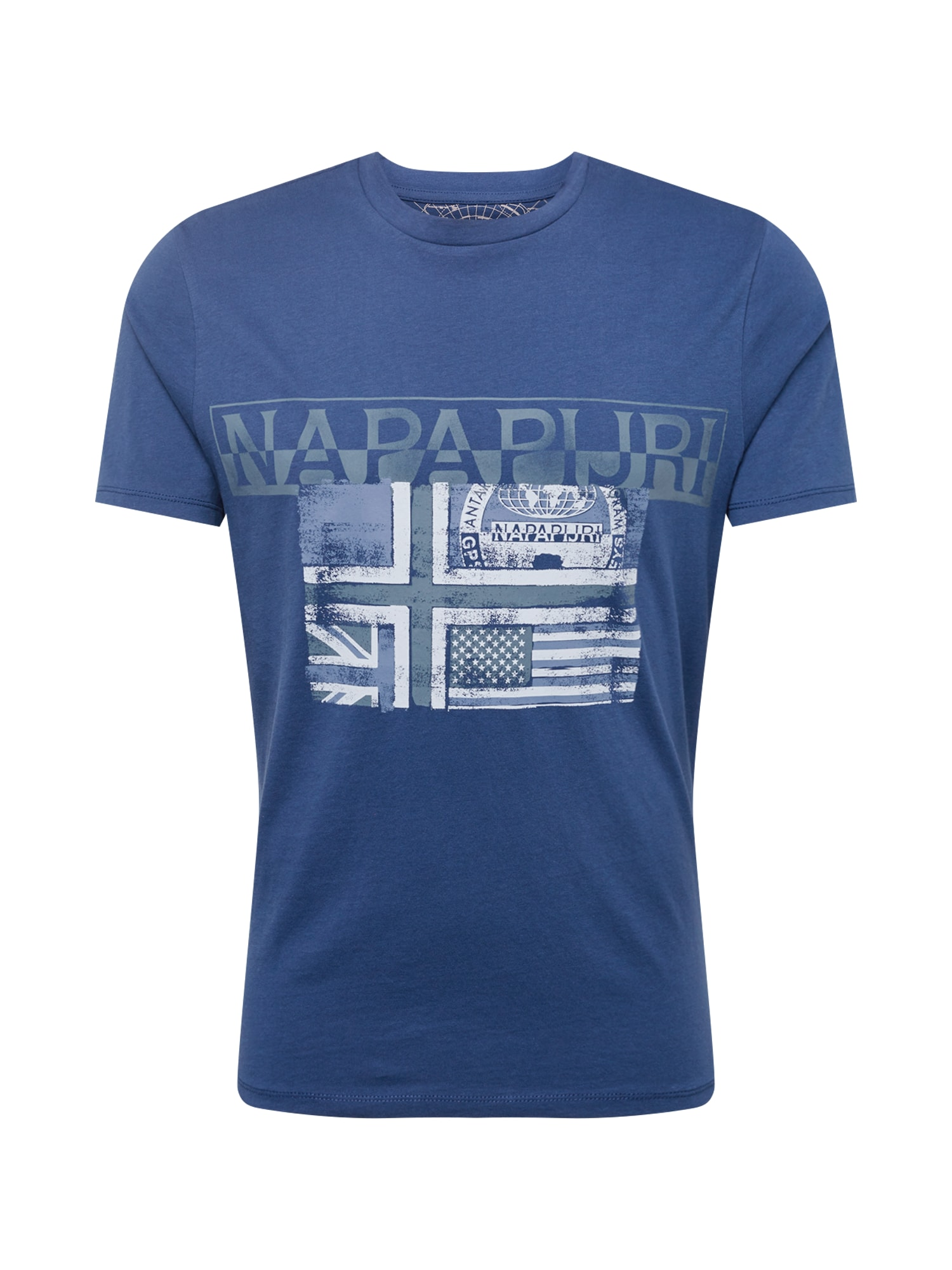 Tričko SAWY tmavě modrá bílá NAPAPIJRI