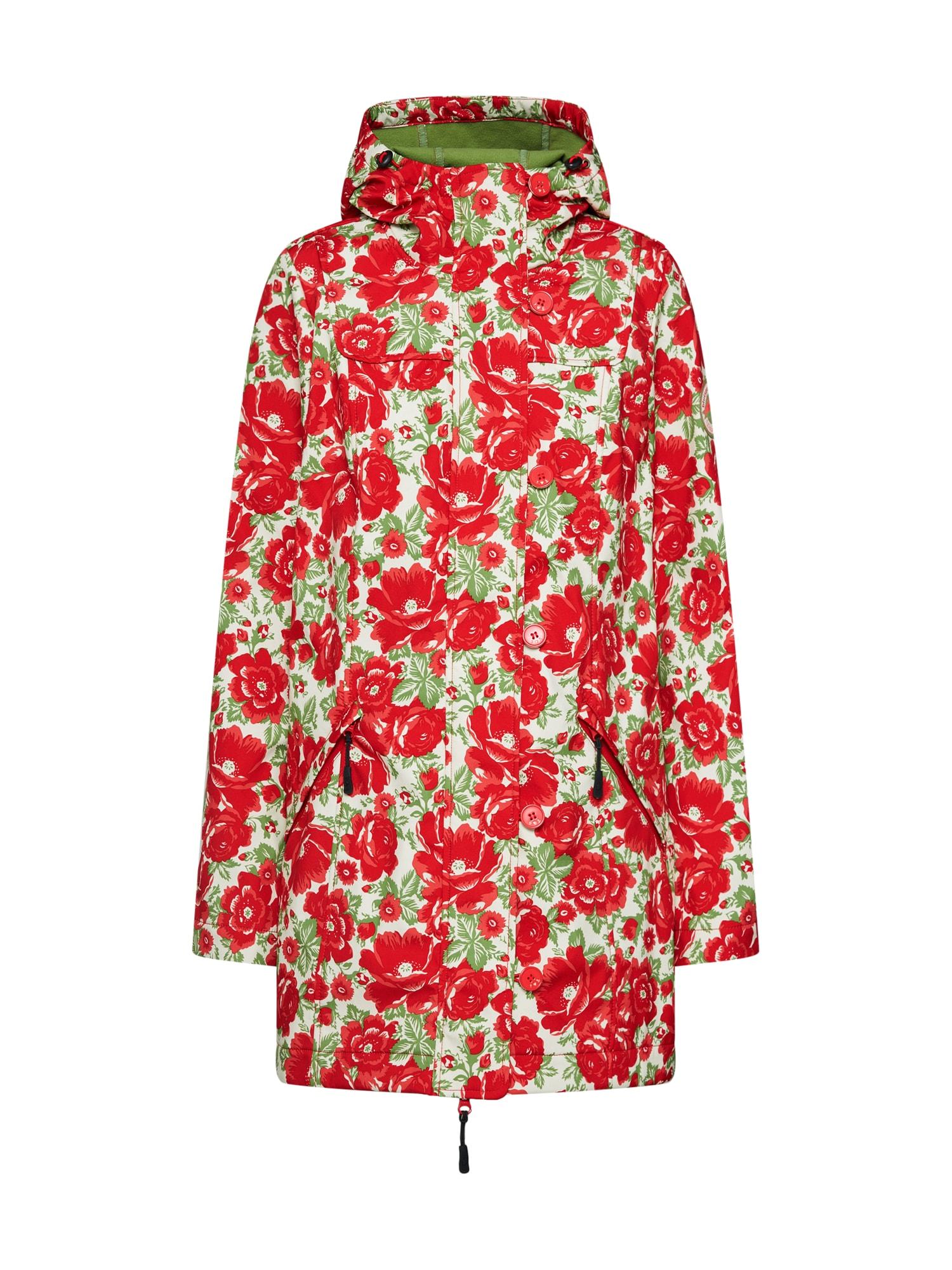 Funkční kabát Wild Weather světle zelená červená bílá Blutsgeschwister