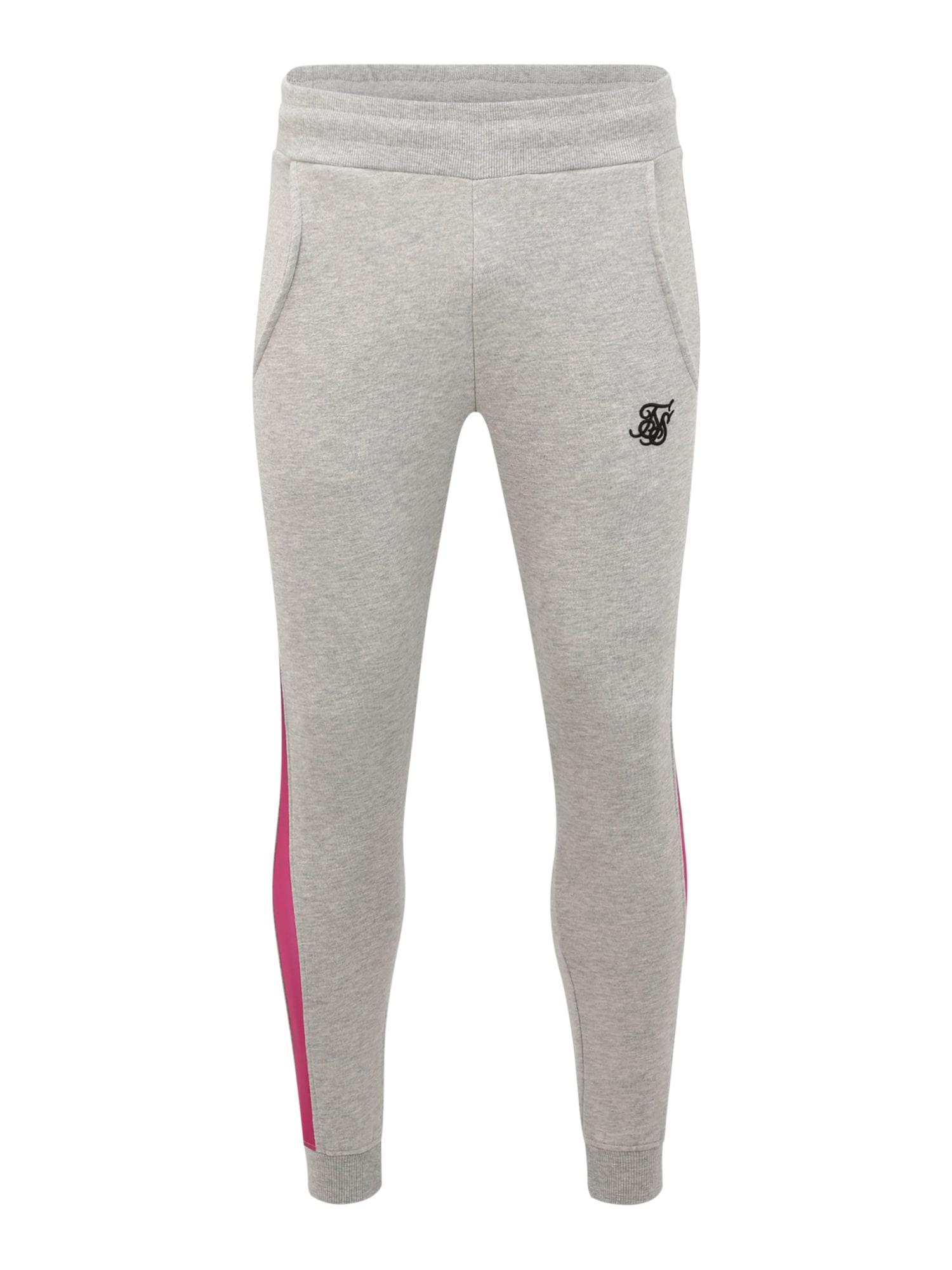 SikSilk Kalhoty  svítivě růžová / šedá / fialová