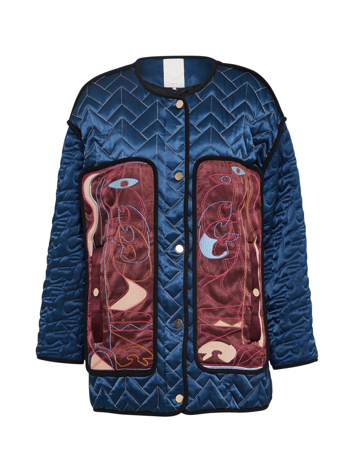 POSTYR Prechodná bunda 'POSLOTUS QUILT JACKET'  modré / červené