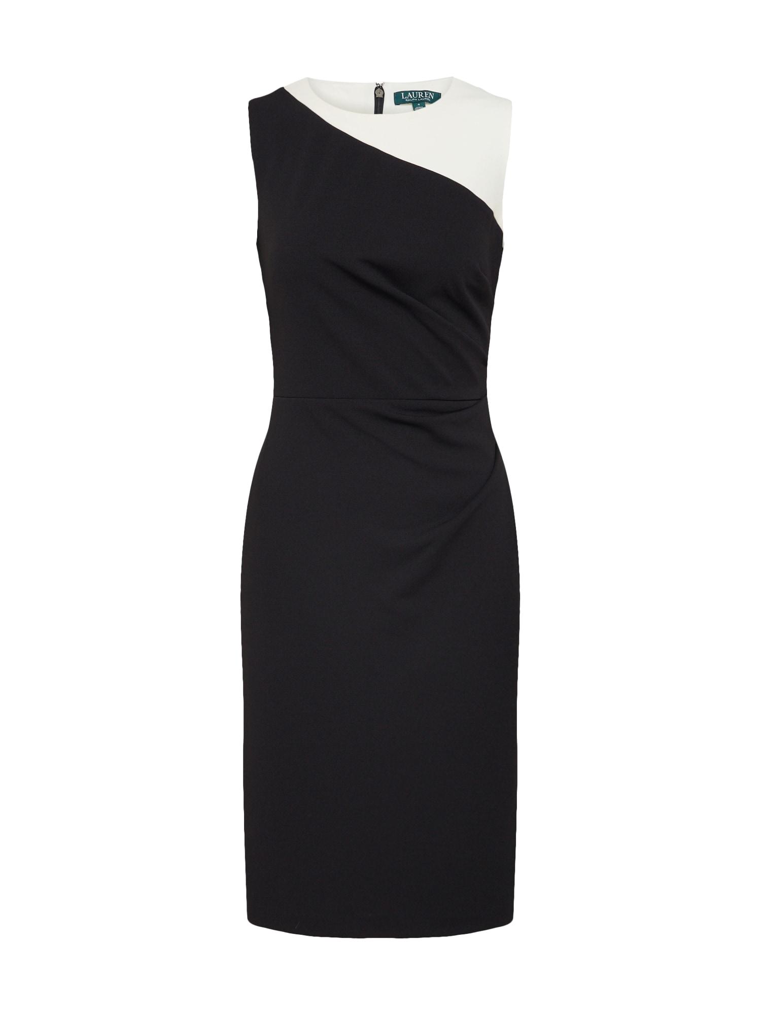 Pouzdrové šaty FINNLIE krémová černá Lauren Ralph Lauren