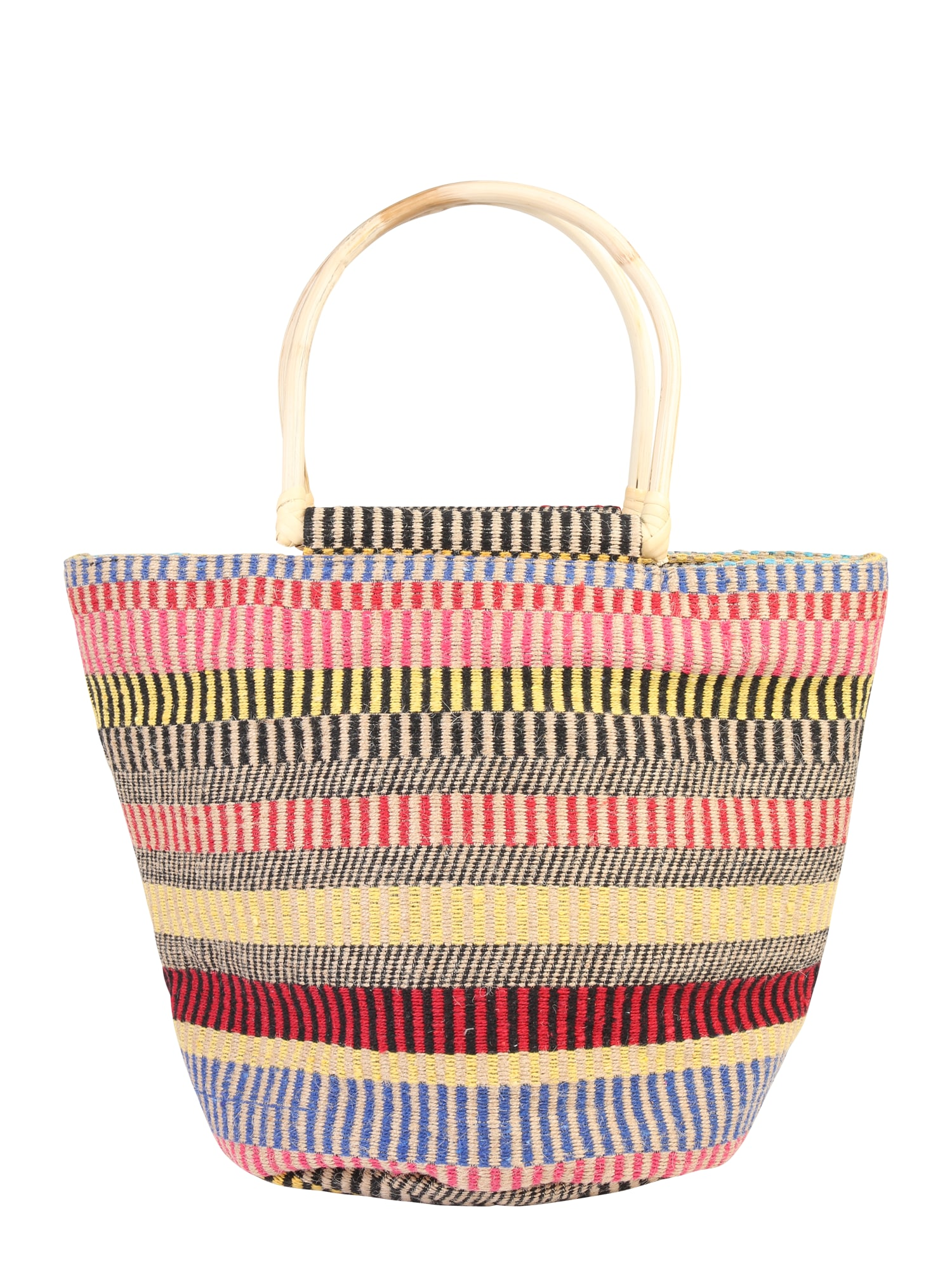 Plážová taška hnědá mix barev PIECES