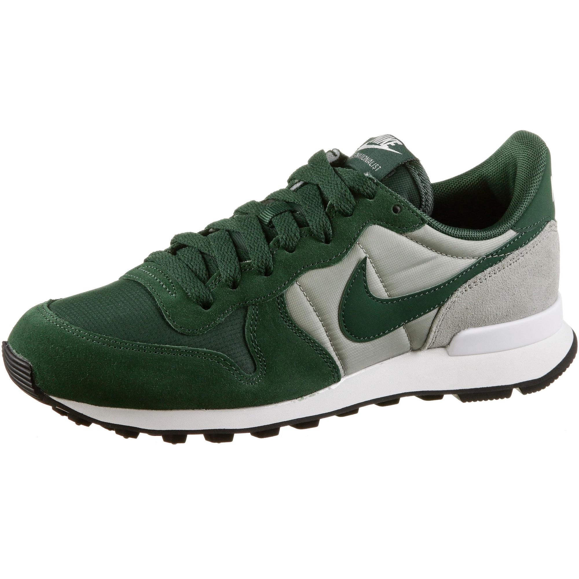 Tenisky Internationalist šedá tmavě zelená Nike Sportswear