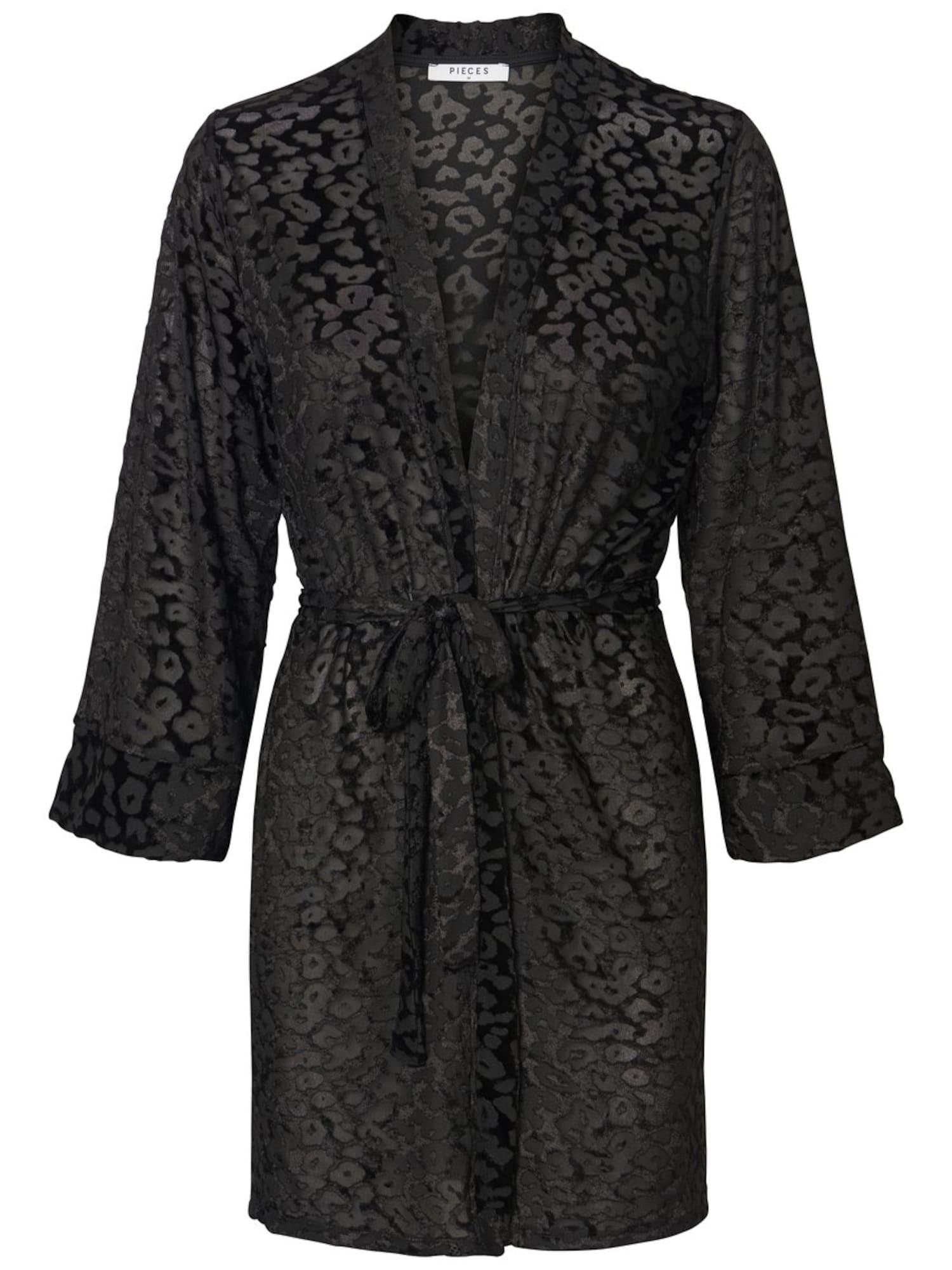 PIECES, Dames Kimono, zwart