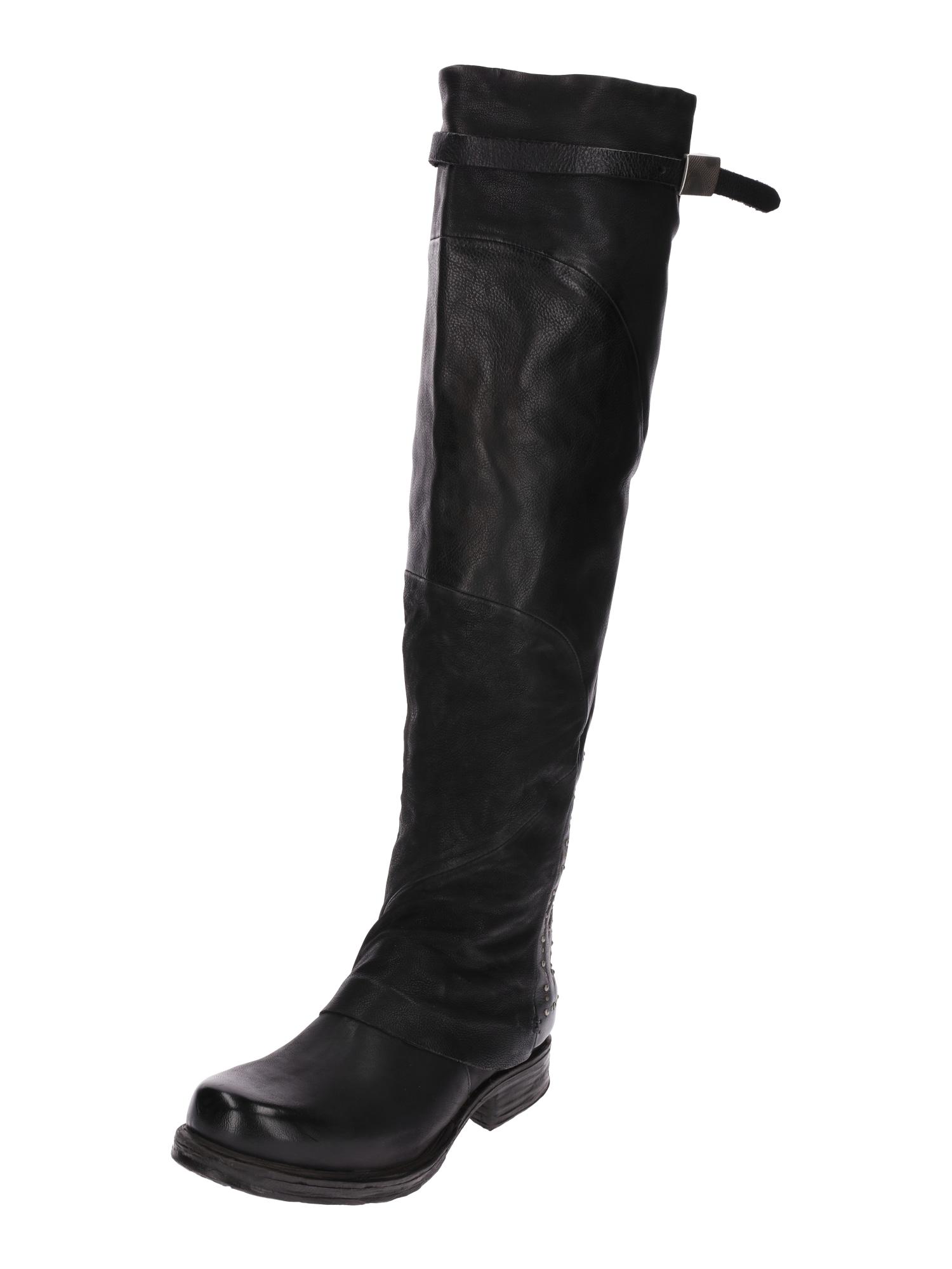 A.S.98, Dames Overknee laarzen 'SAINTEC', zwart