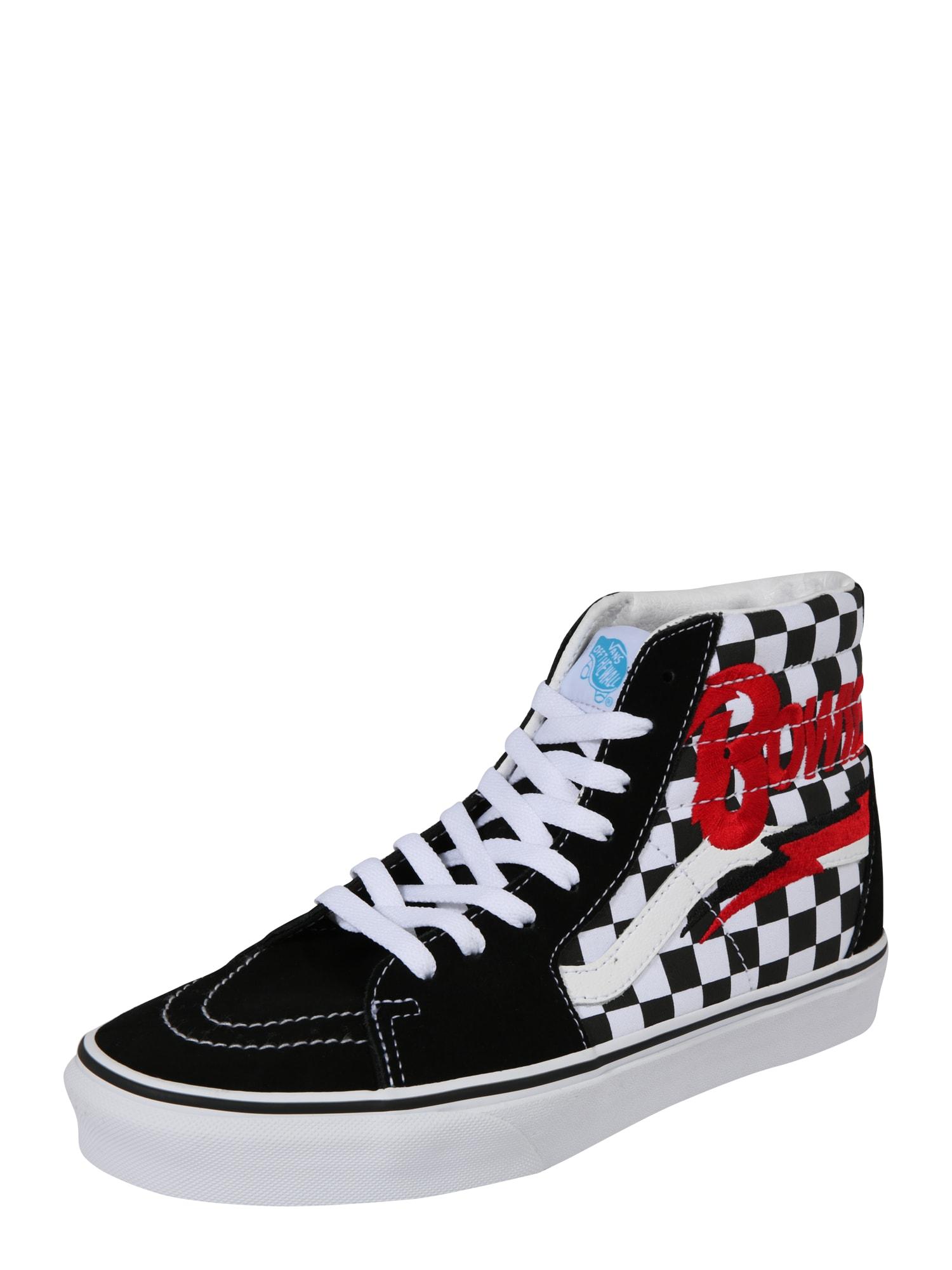 Kotníkové tenisky červená černá bílá VANS