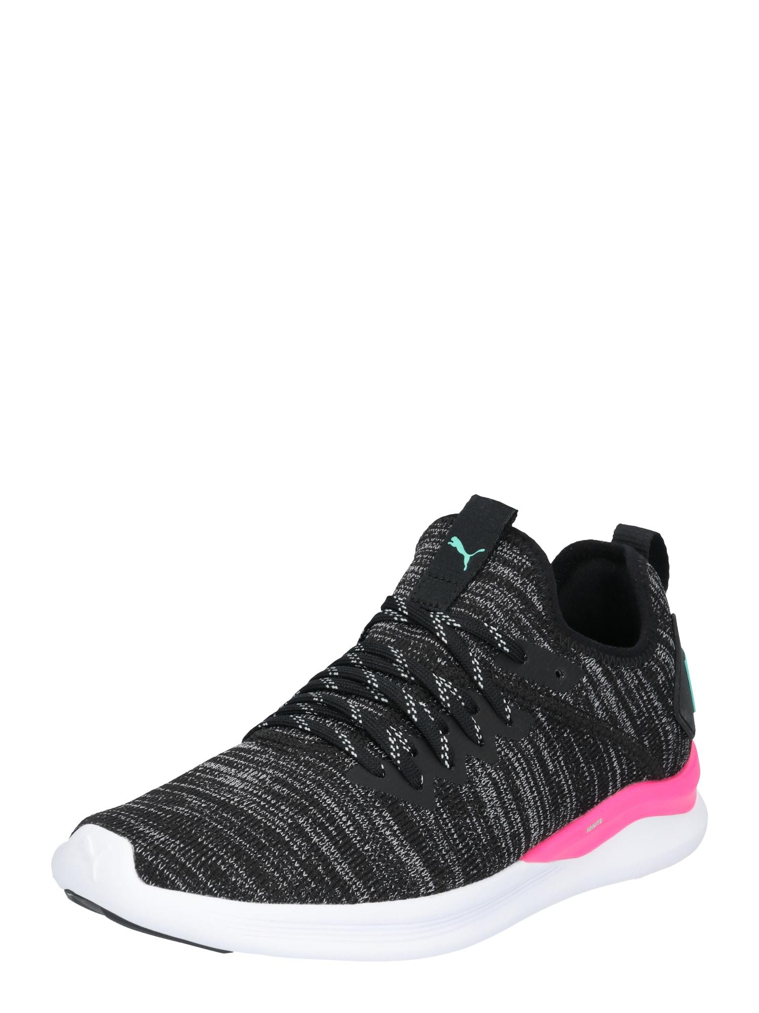 Sportovní boty pastelově zelená pink černý melír bílá PUMA