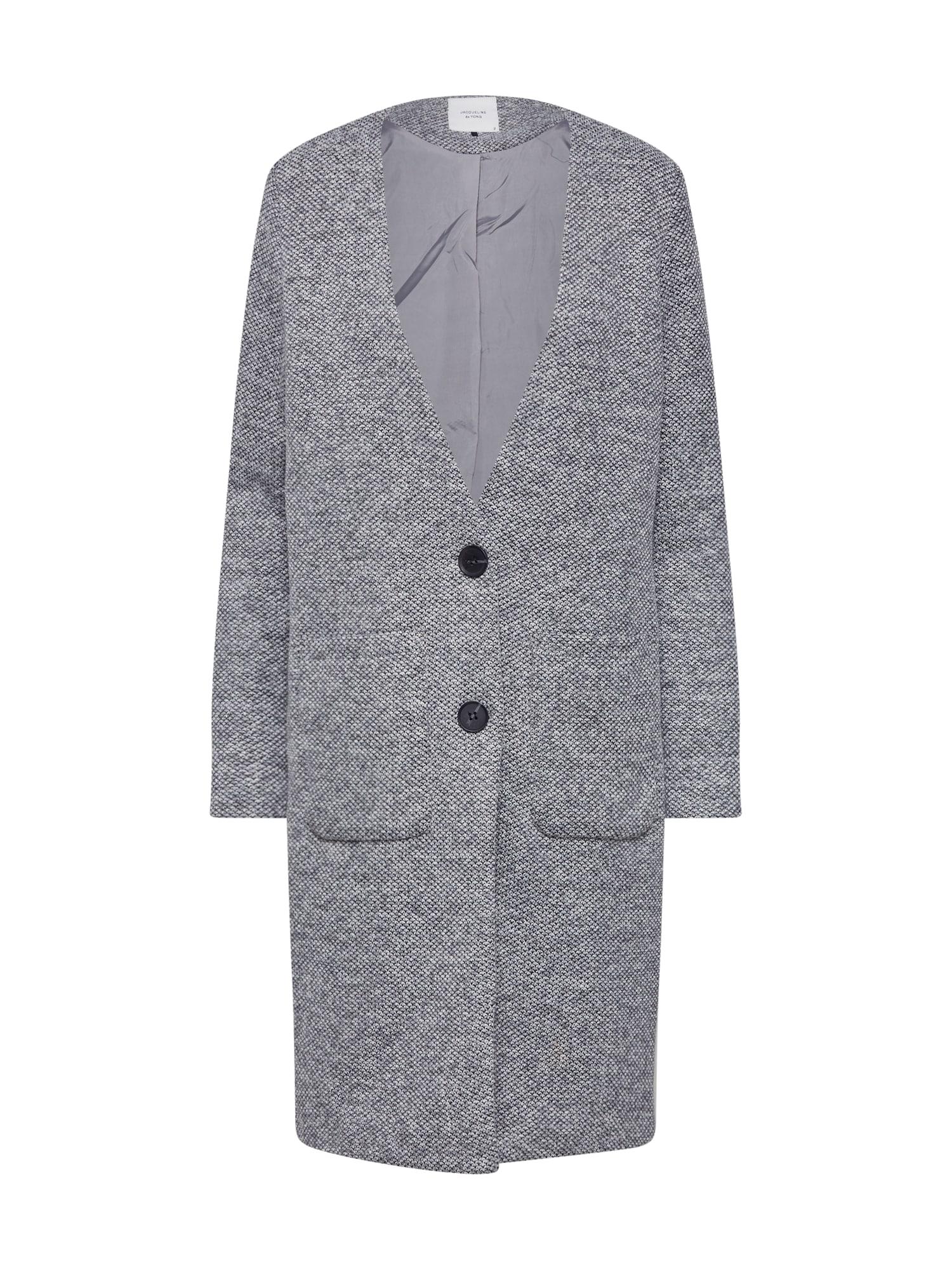 Přechodný kabát IVONNE BESTY světle šedá JACQUELINE De YONG