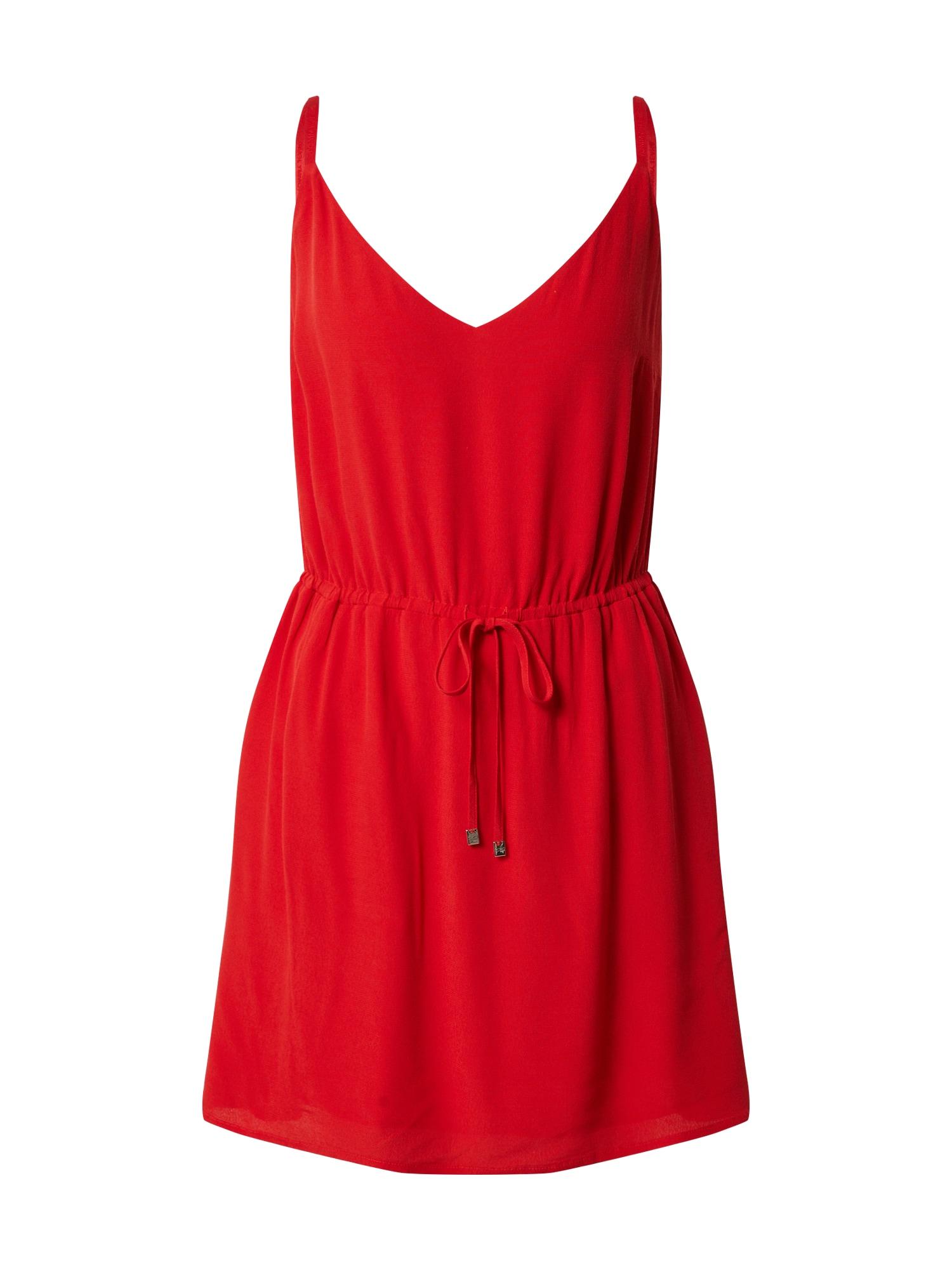 Tommy Jeans Letní šaty  světle červená