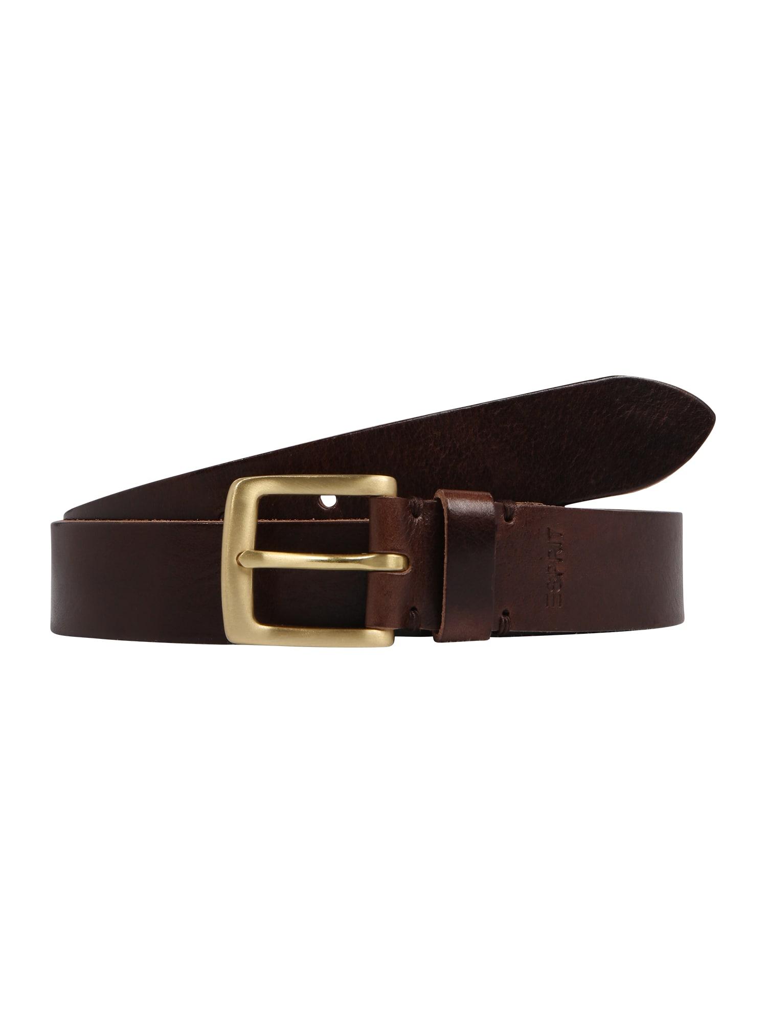 ESPRIT, Dames Riem 'Veg denim belt', bruin