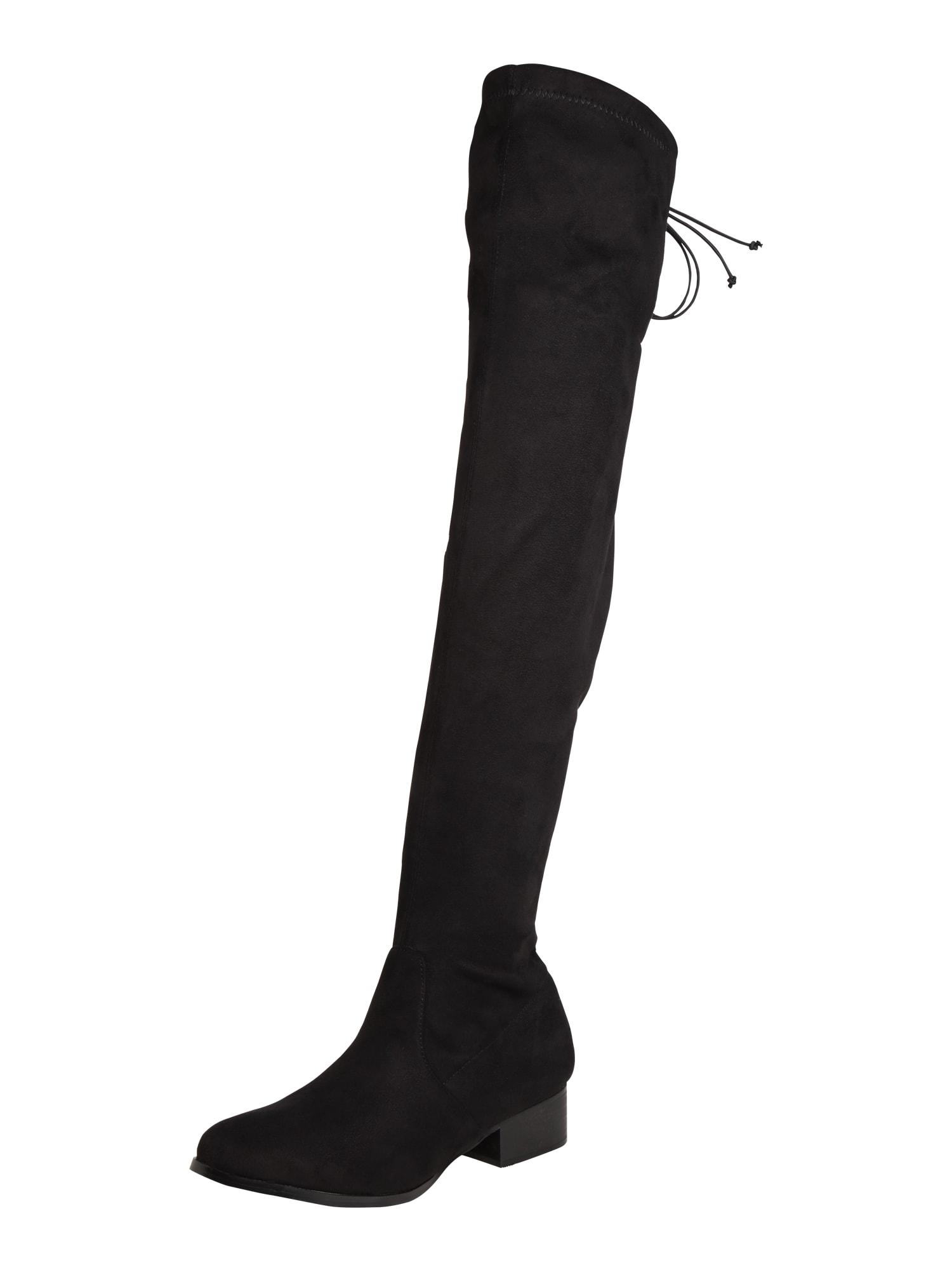 4th & Reckless, Dames Overknee laarzen 'MICHELLE', zwart