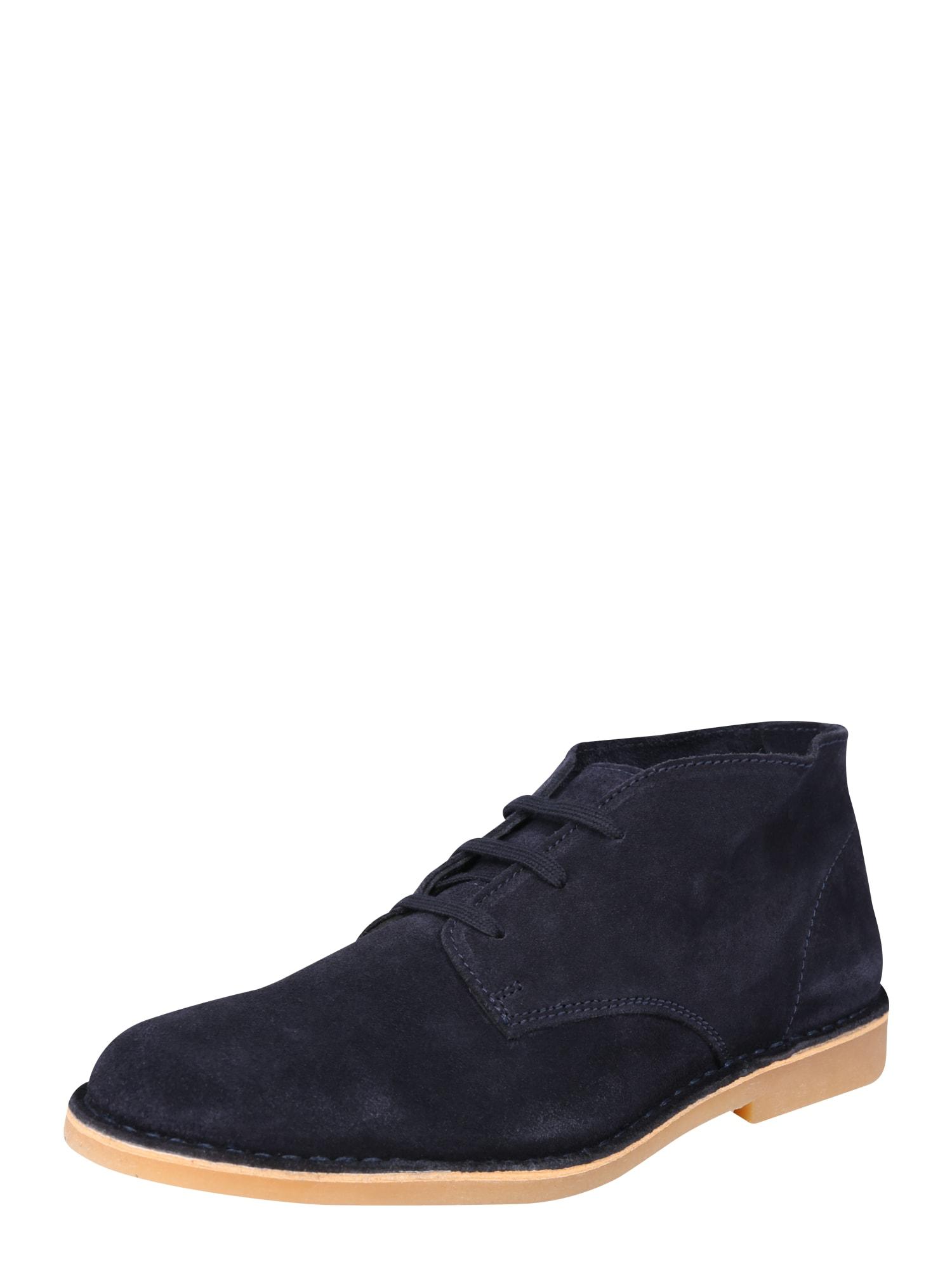SELECTED HOMME Kotníkové boty  noční modrá
