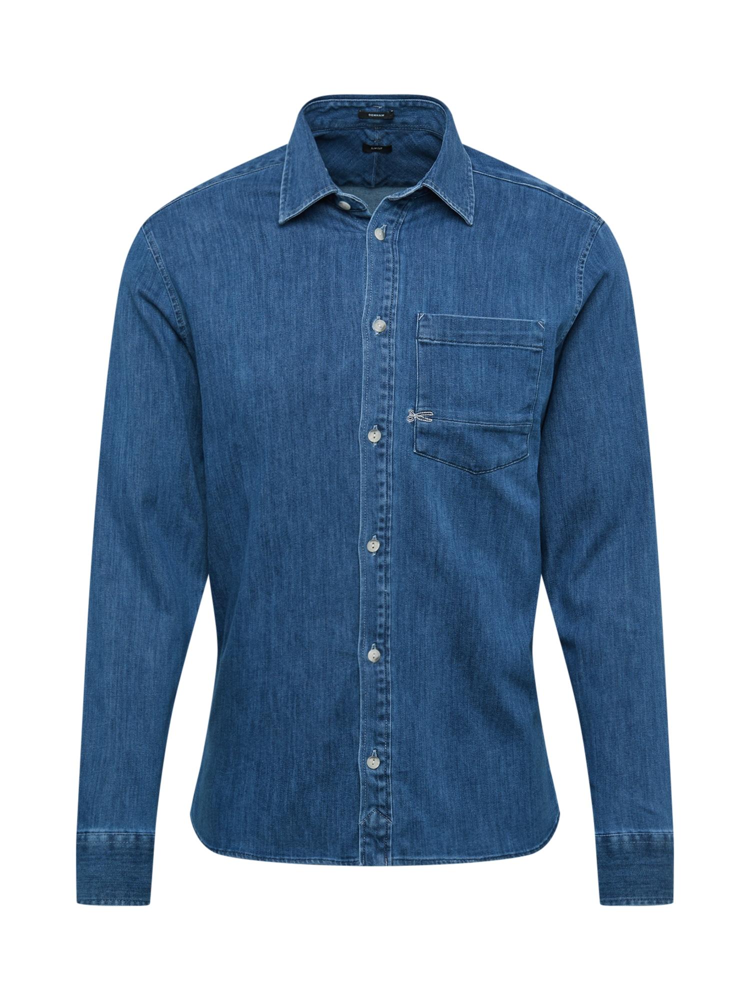 Košile AXEL modrá džínovina DENHAM