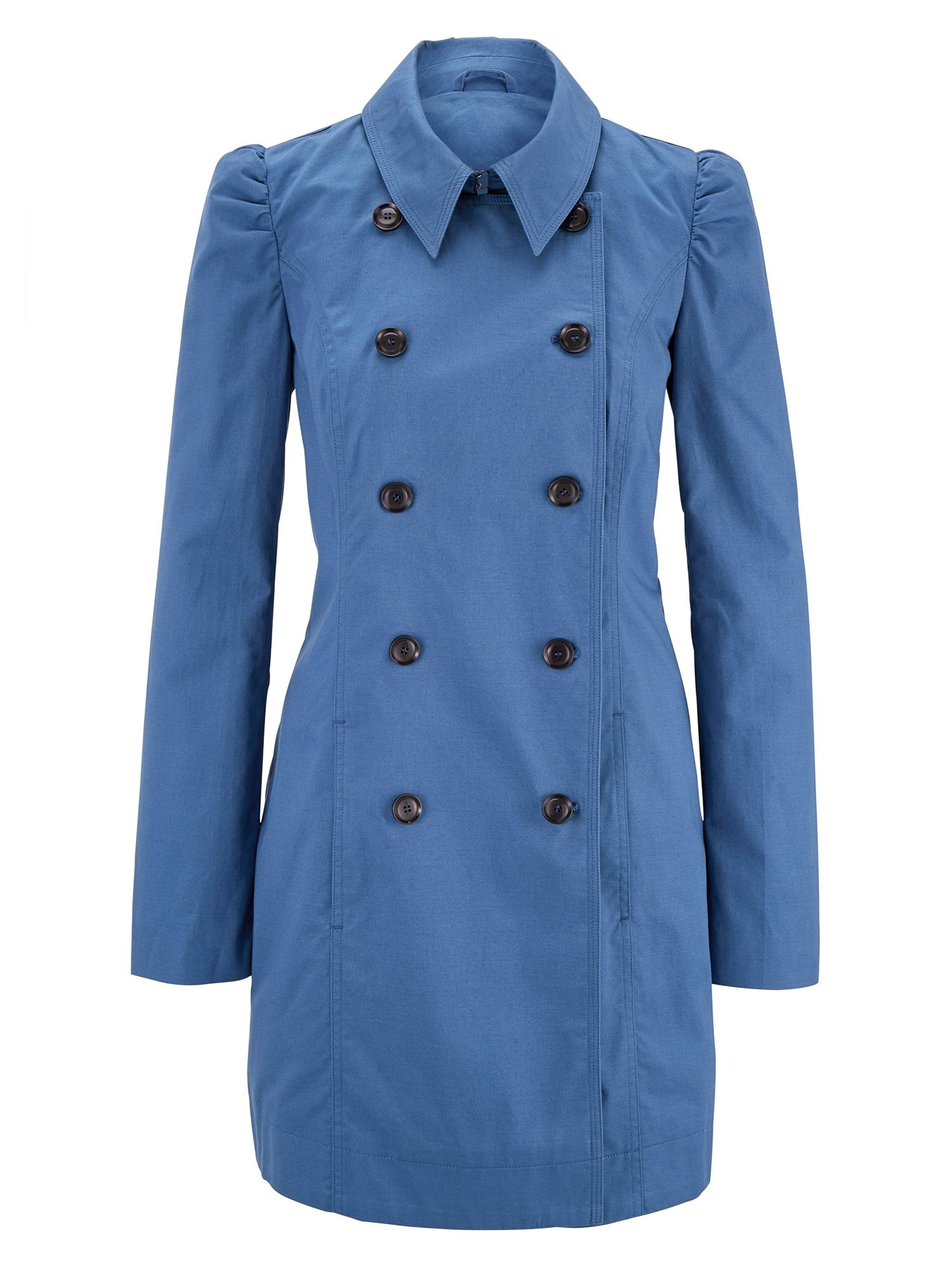 Přechodný kabát modrá džínovina světlemodrá Heine
