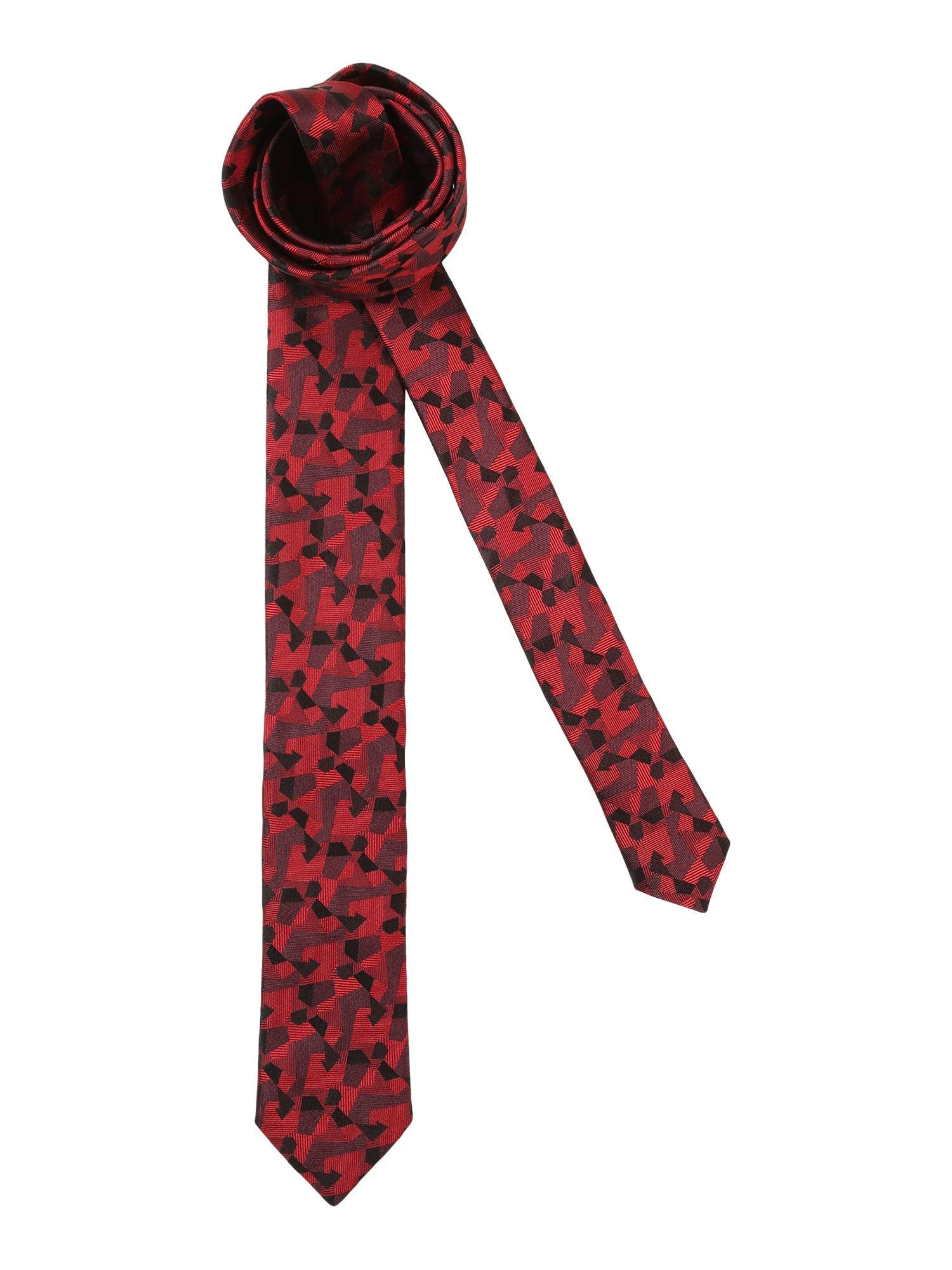 Kravata 6 cm bordó černá HUGO