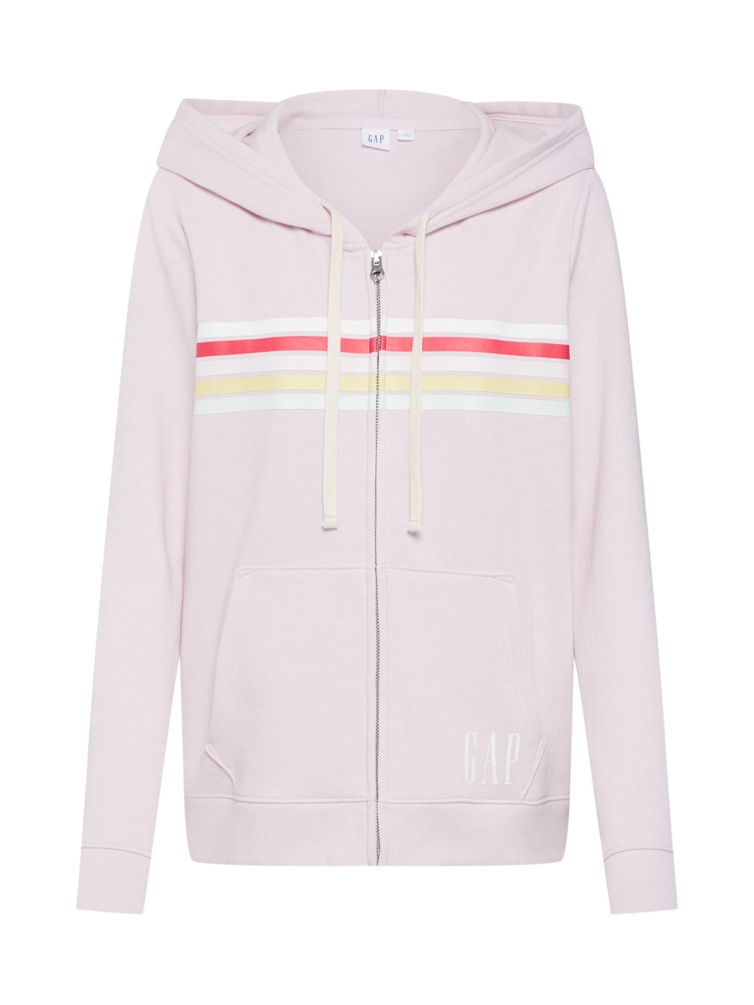 Mikina s kapucí V- MULTI STR FZ pink GAP