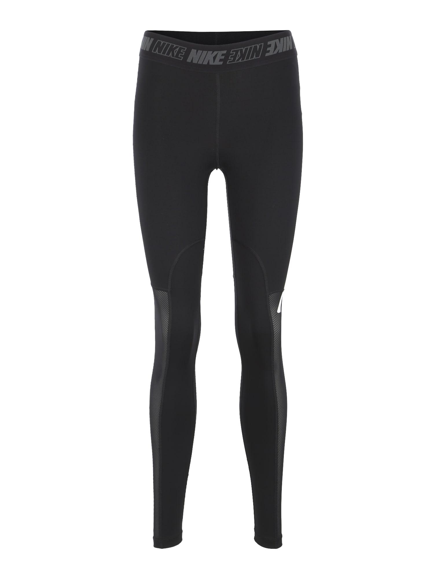 Sportovní kalhoty W NK VCTY SPRT DSTRT TGHT černá bílá NIKE