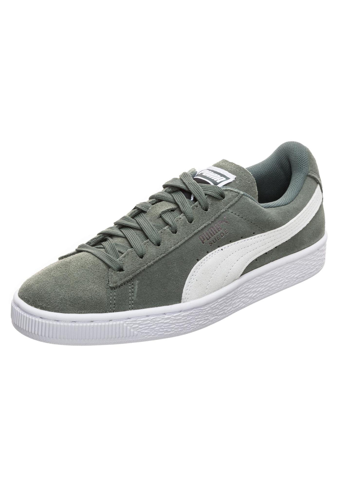 PUMA, Dames Sneakers laag 'Suede Classic', kaki / wit / natuurwit