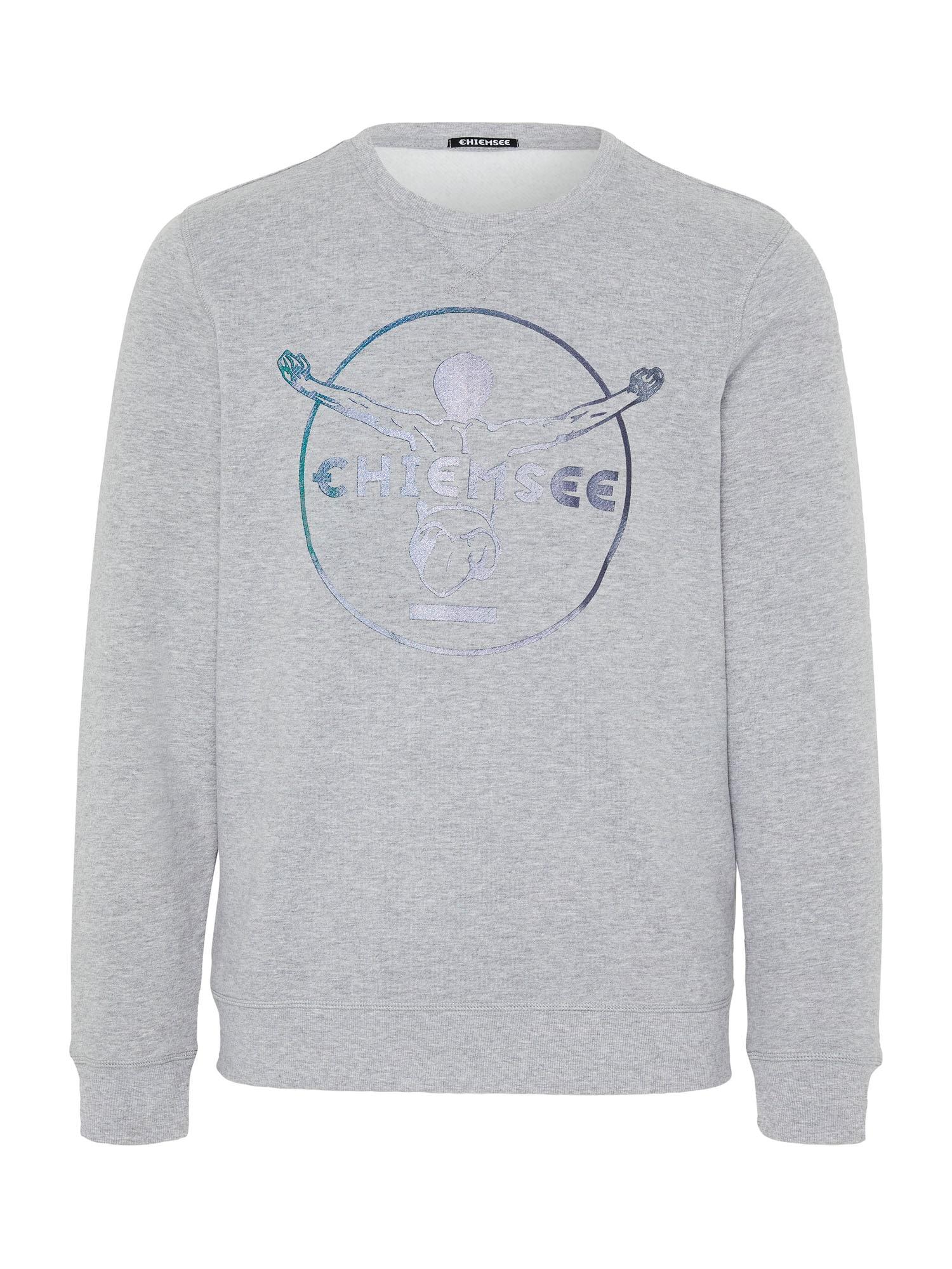 CHIEMSEE Sportovní mikina 'ZAYN NEW Unisex, Sweatshirt, Regular Fit'  modrá / šedá