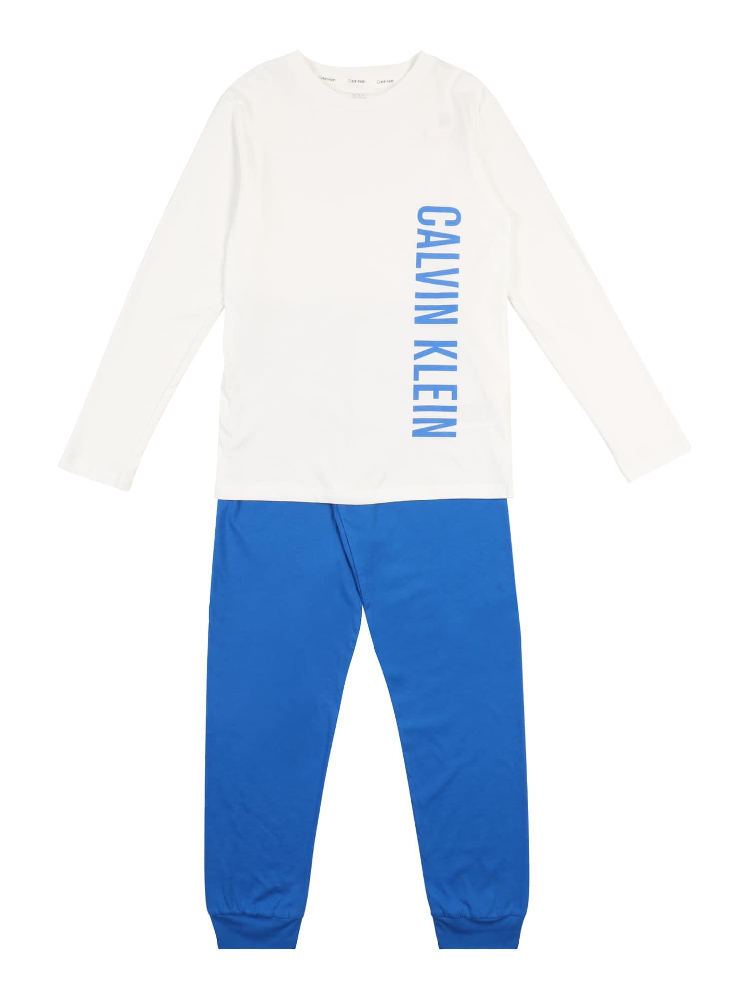 Calvin Klein Underwear Pyžamo  modrá / bílá
