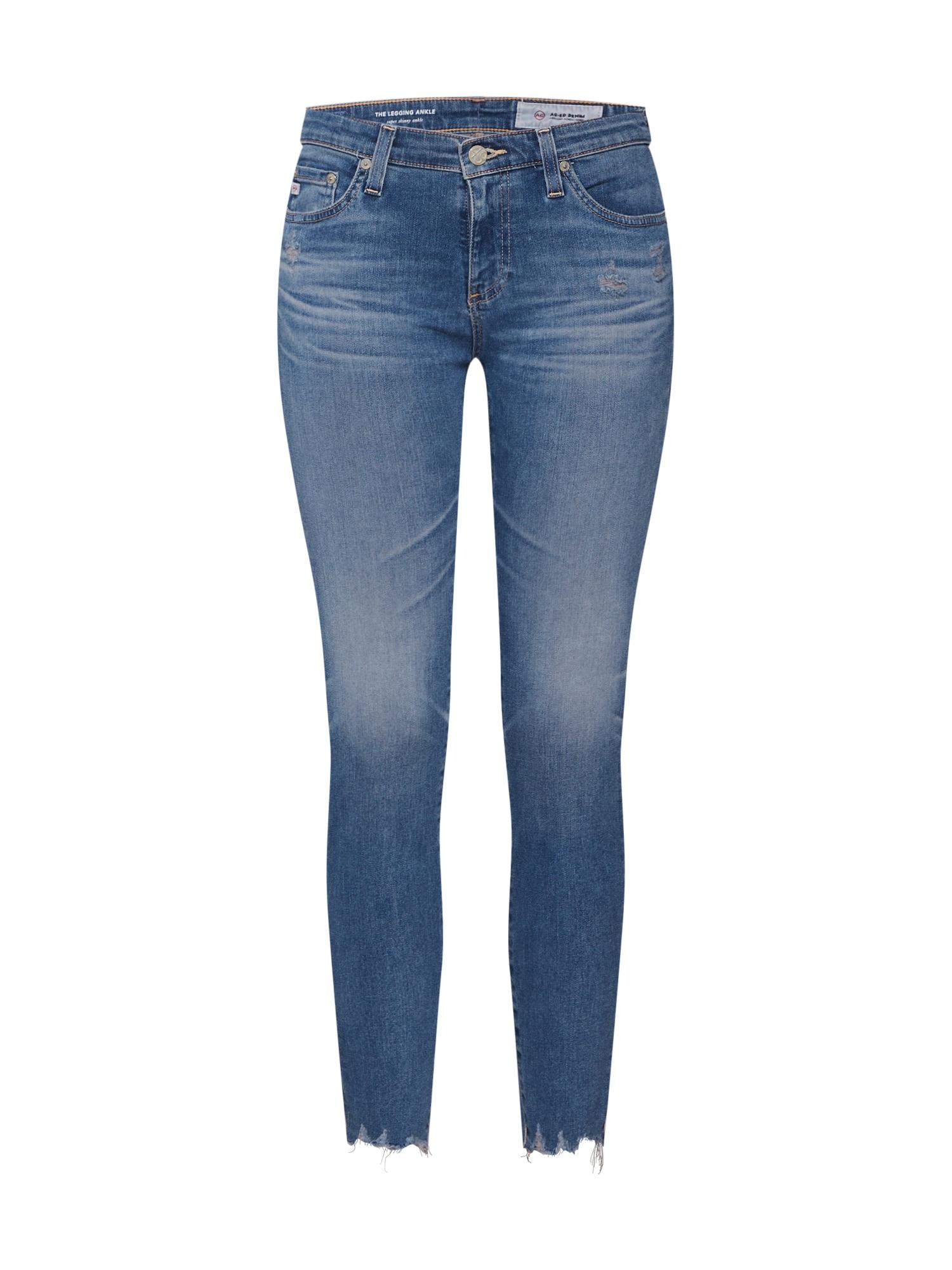 Džíny Ankle modrá džínovina AG Jeans