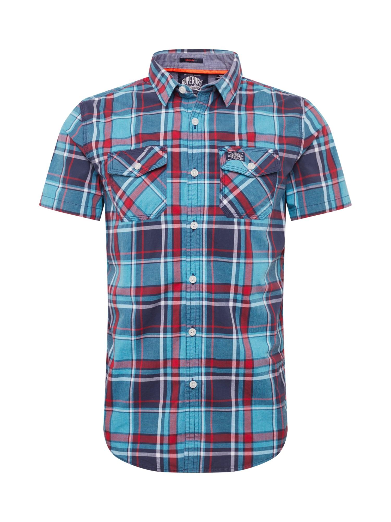 Košile modrá červená Superdry