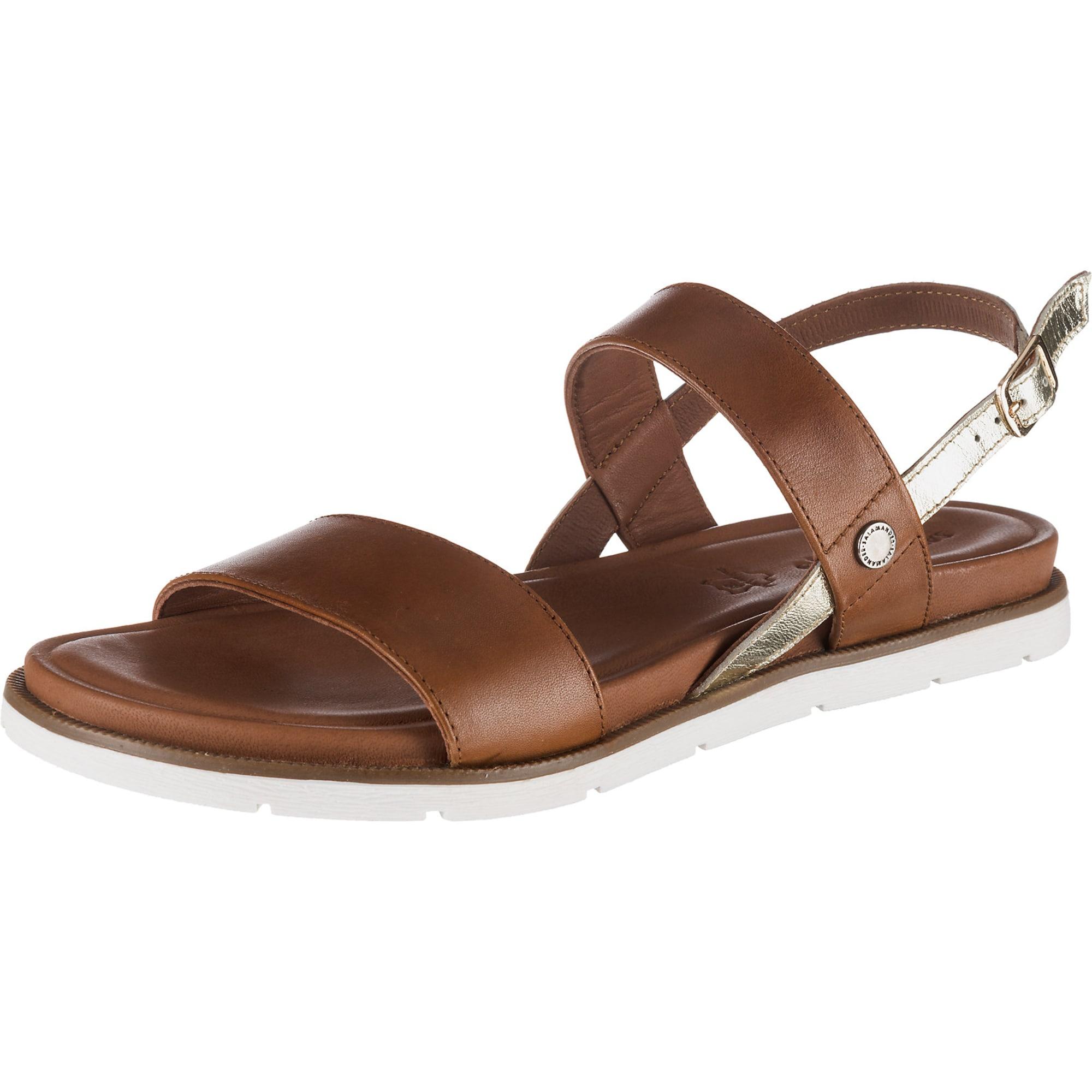 Sandalen 'Musy' | Schuhe > Sandalen & Zehentrenner | Braun - Silber | SALAMANDER