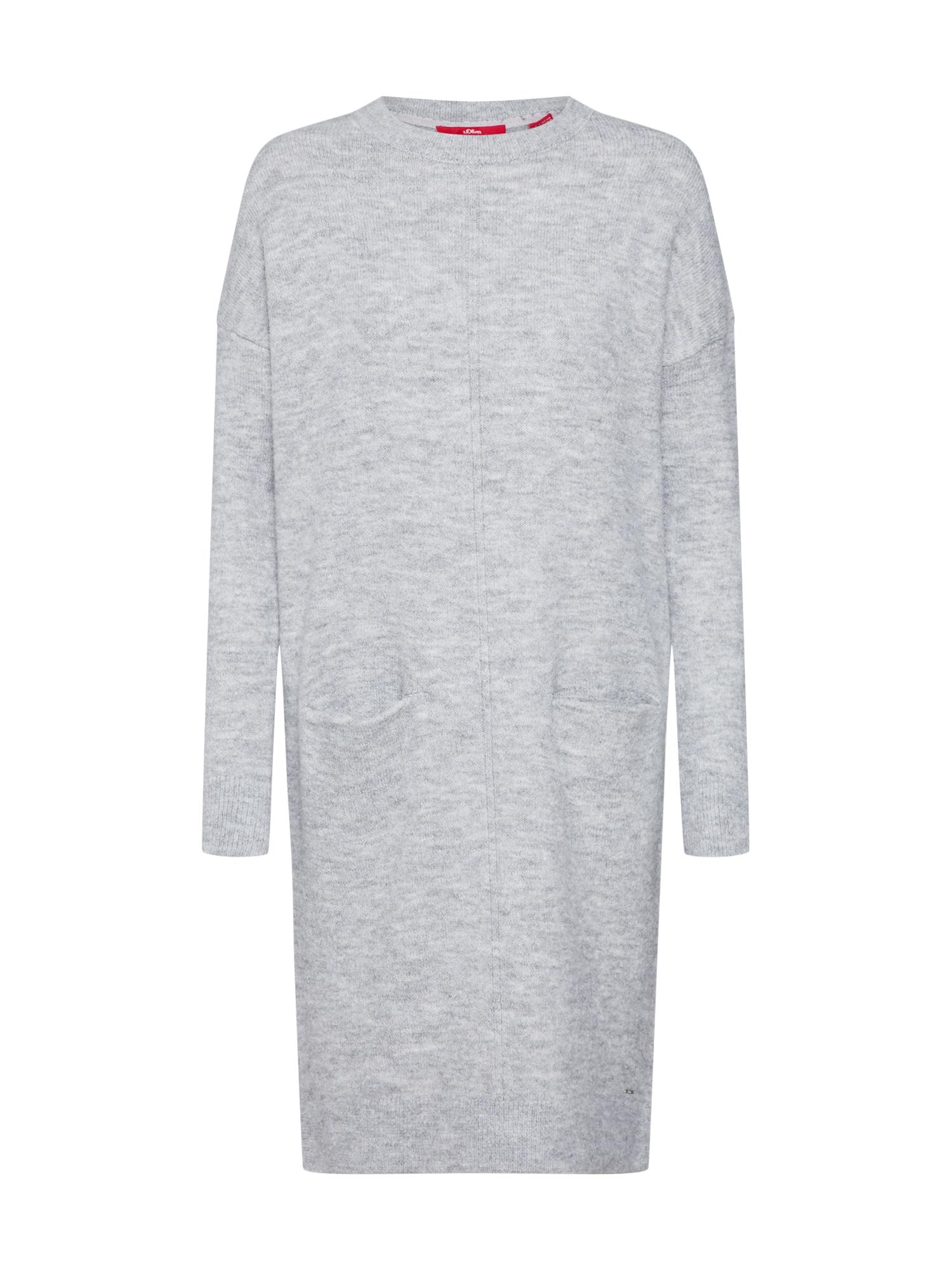 Úpletové šaty šedý melír S.Oliver RED LABEL