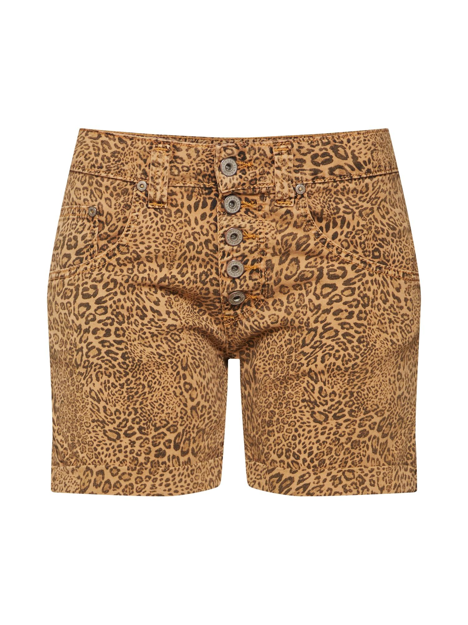 Kalhoty béžová hnědá PLEASE