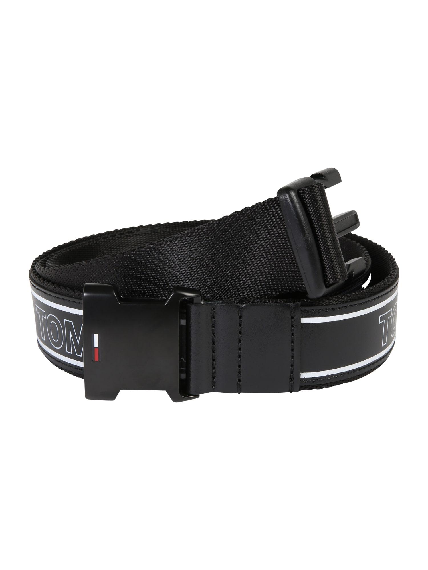 Opasek TJU CLIP LEATHER BELT 3.5 černá Tommy Jeans