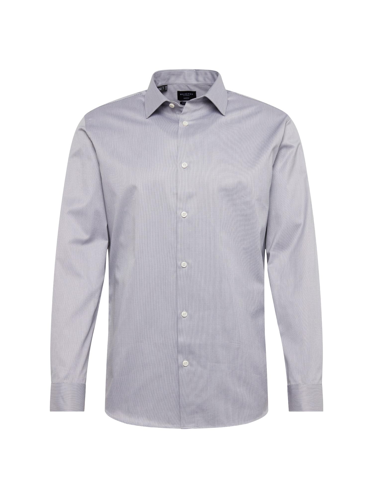 Košile SLIMPEN-PELLE šedý melír SELECTED HOMME