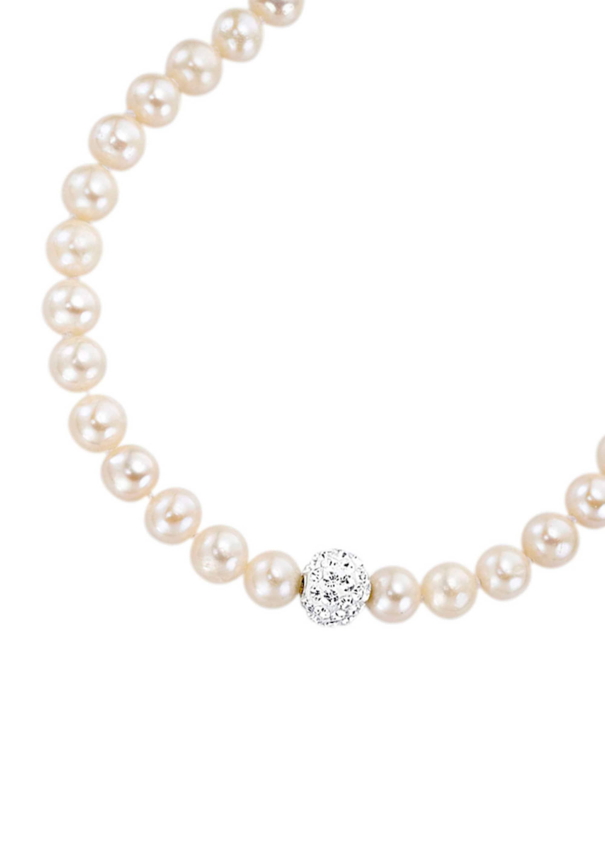 Halsschmuck: Collier mit Perlen und funkelnden ...