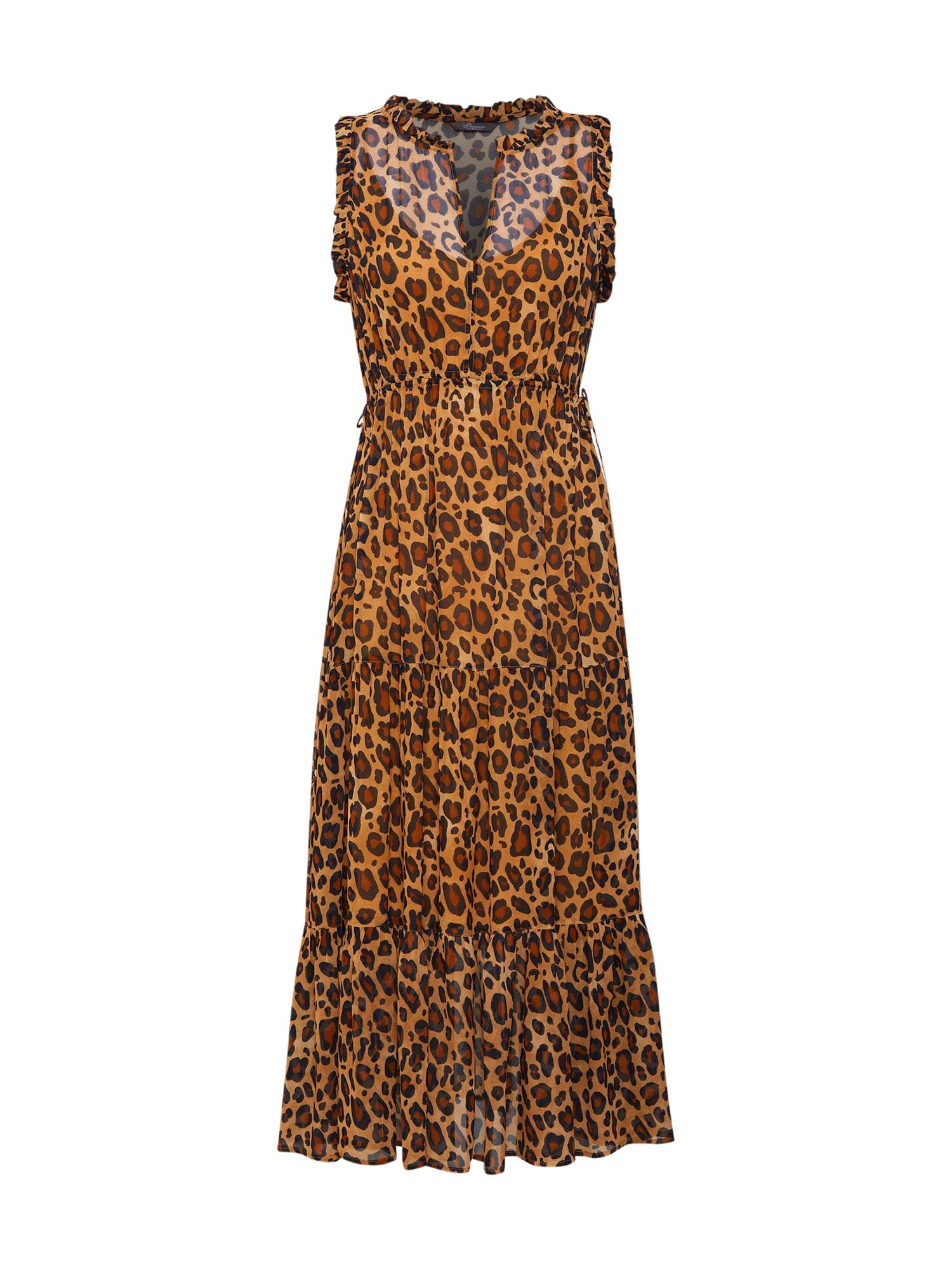 Letní šaty Volant dress with leo hnědá PRINCESS GOES HOLLYWOOD