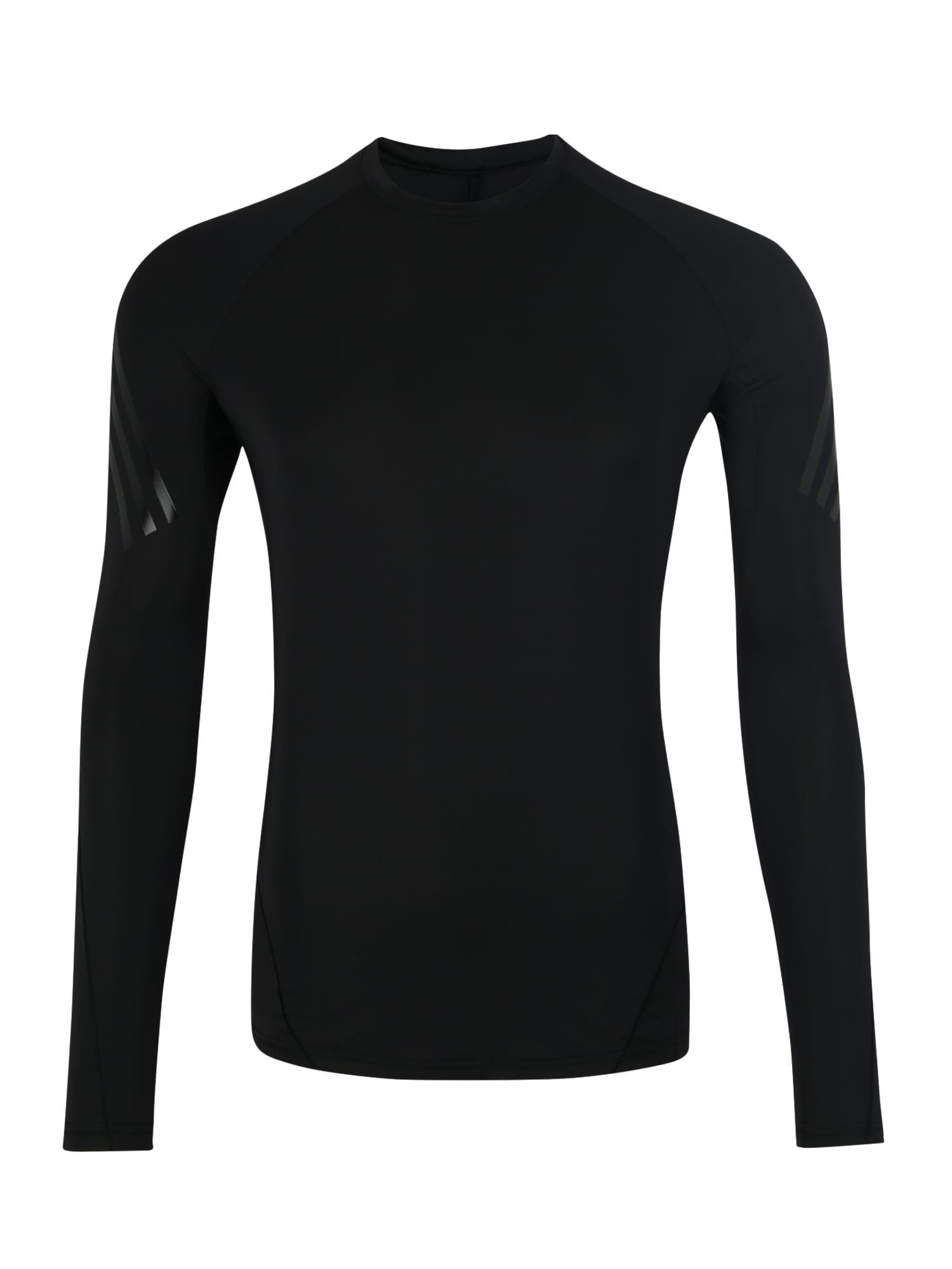 Funkční tričko ASK TEC LS 3S černá ADIDAS PERFORMANCE