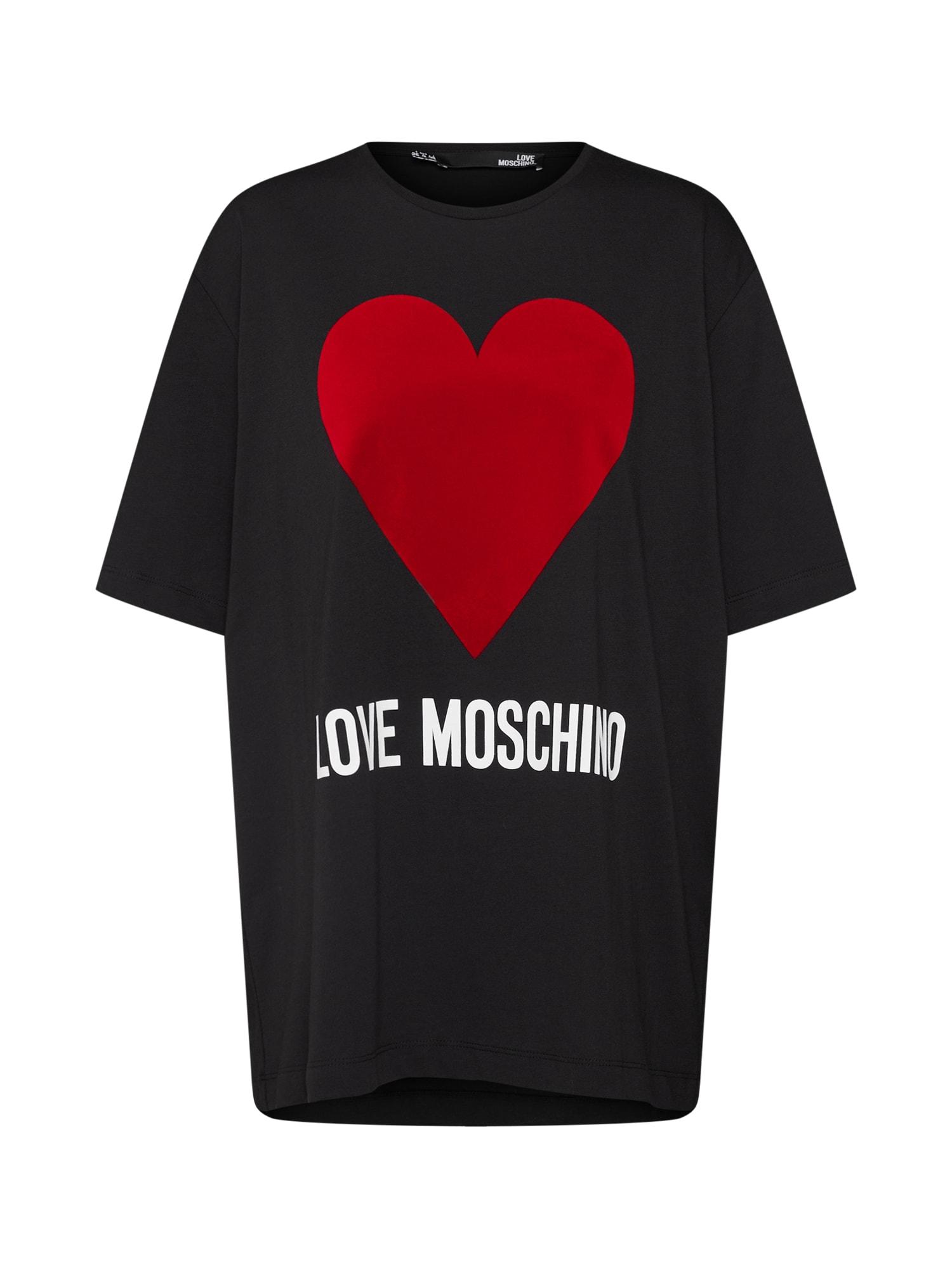 Tričko MAGLIETTA MC STAMPA LOGO černá Love Moschino