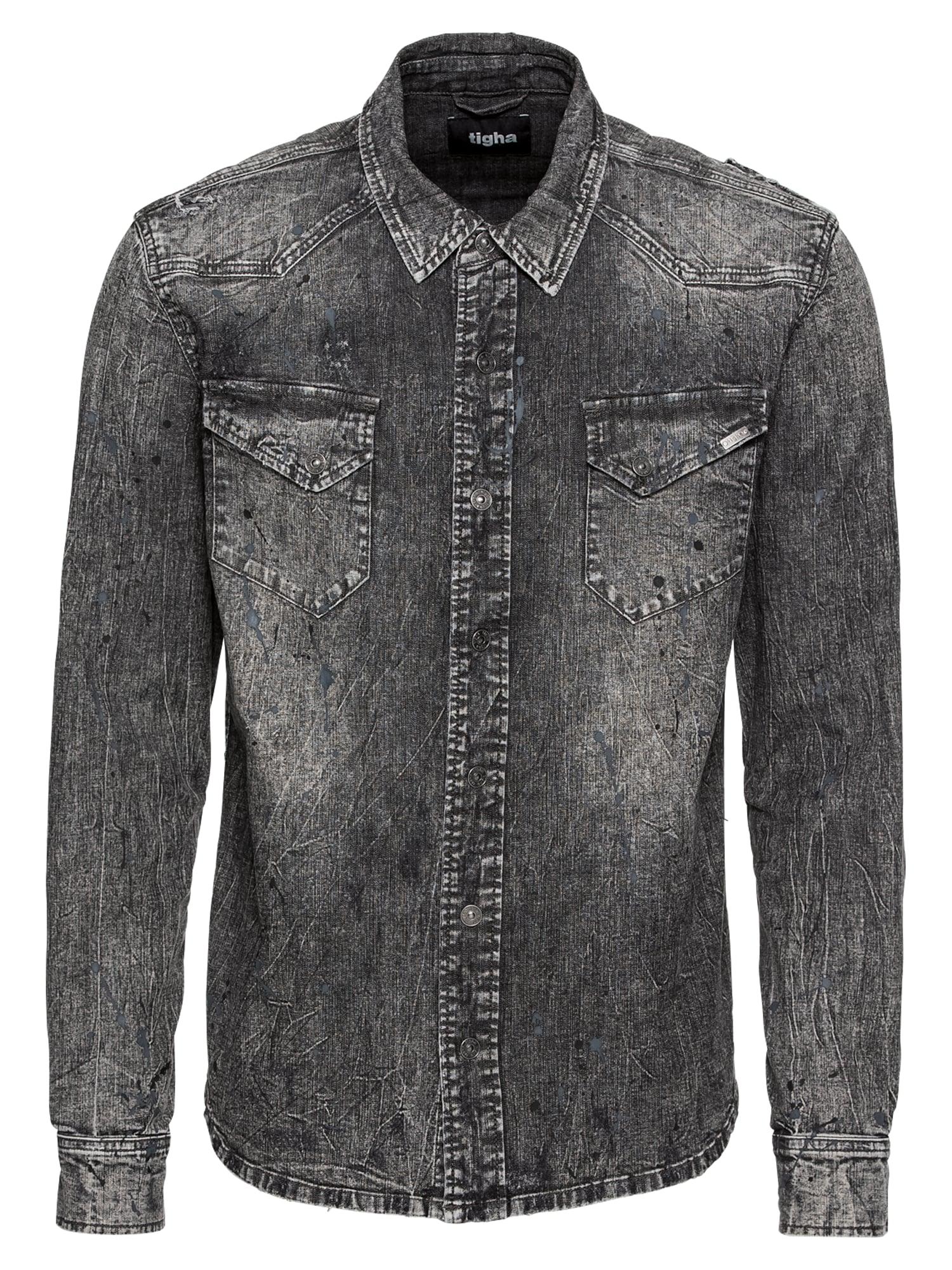 Košile Fred 9831 ripped šedá džínová Tigha