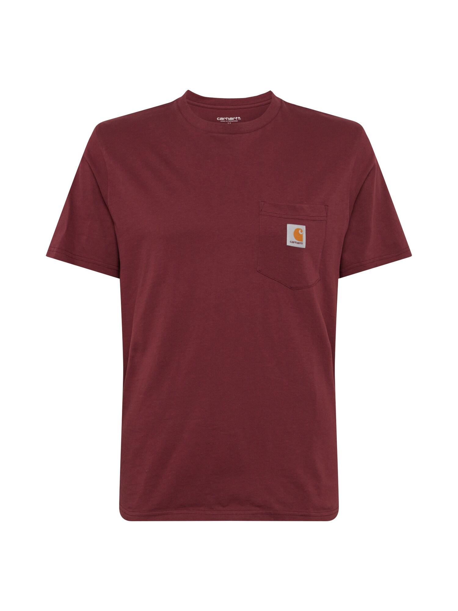 Carhartt WIP Tričko  vínově červená