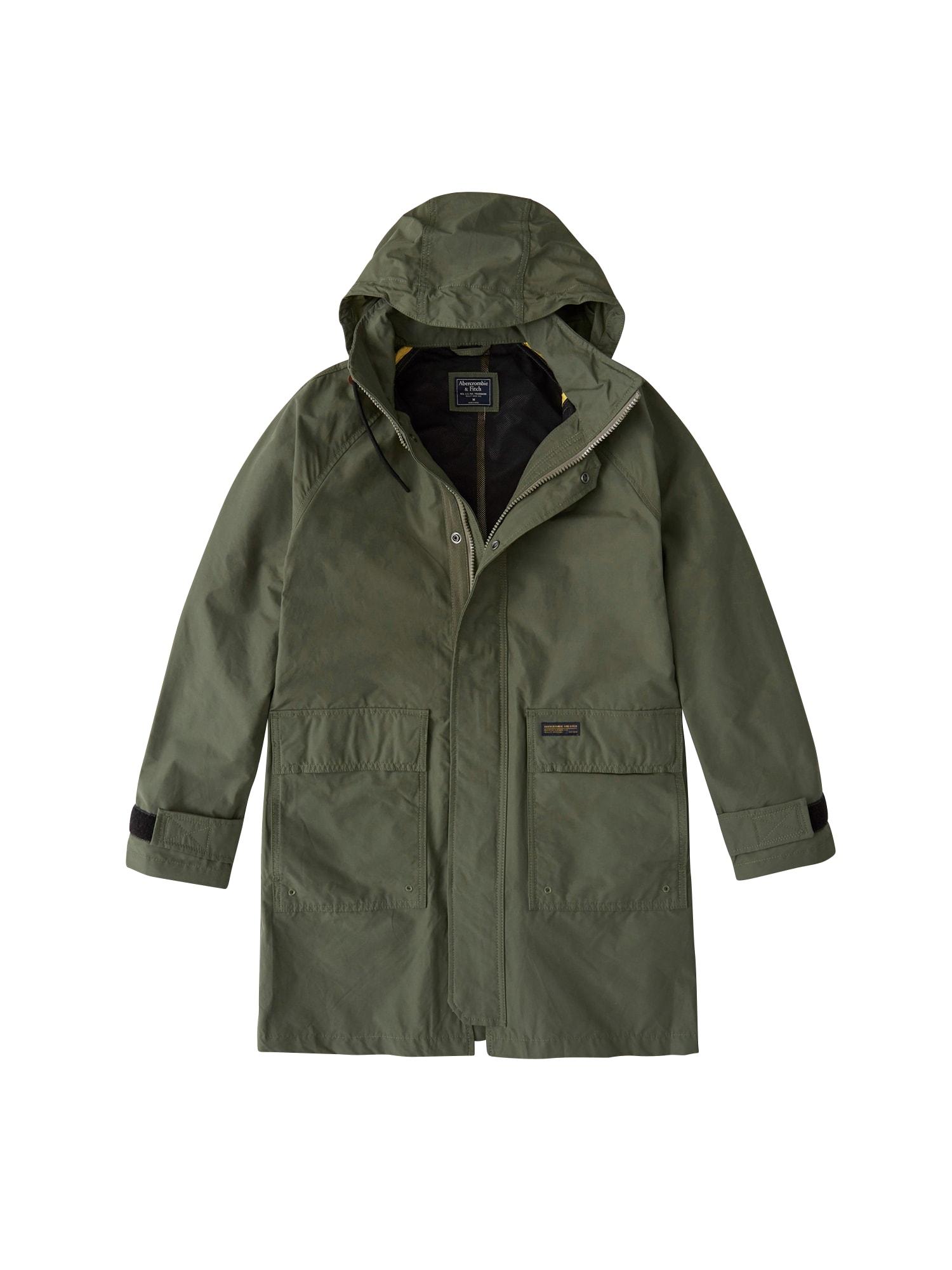 Přechodný kabát olivová Abercrombie & Fitch