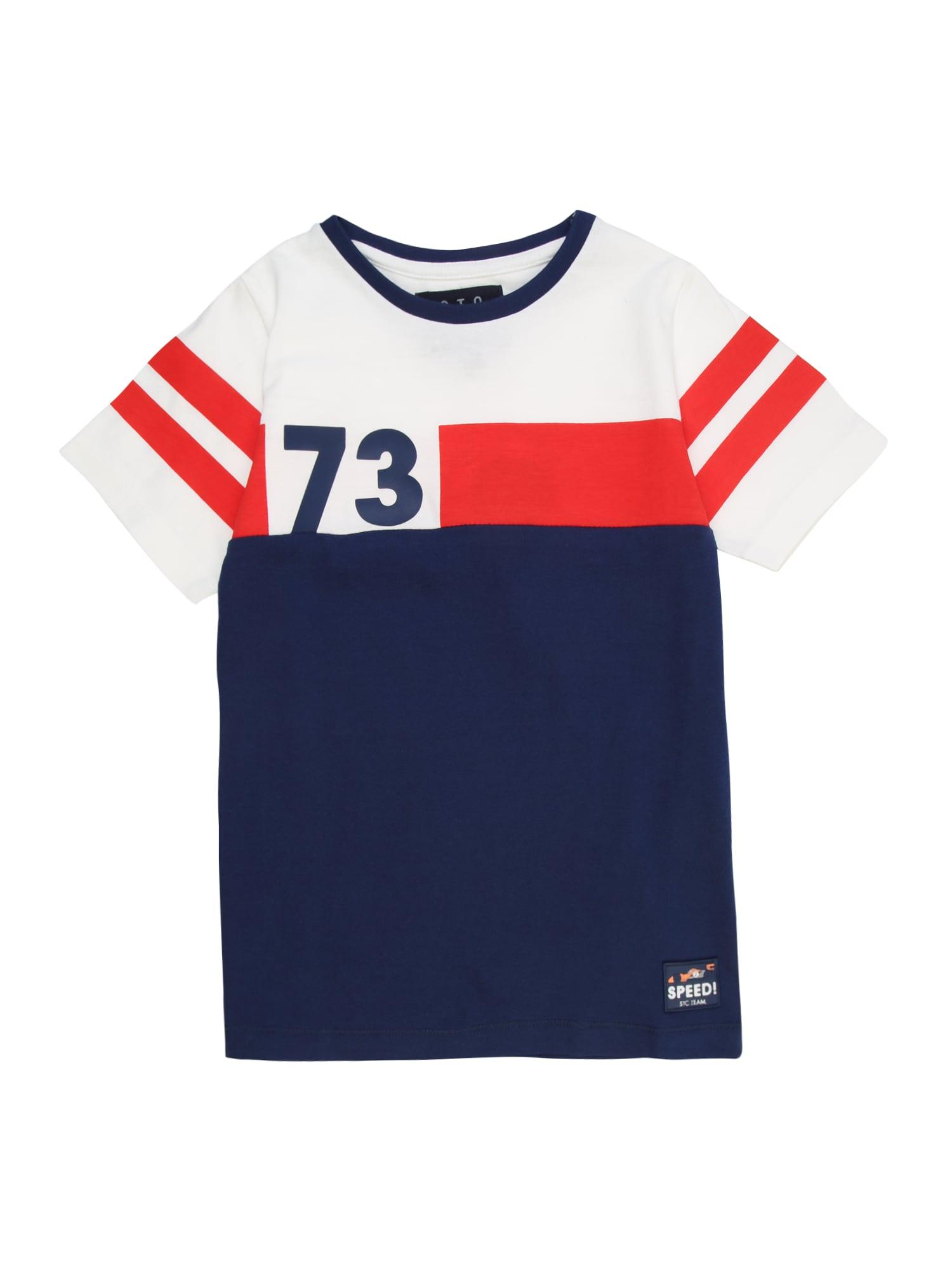 STACCATO Tričko  bílá / marine modrá