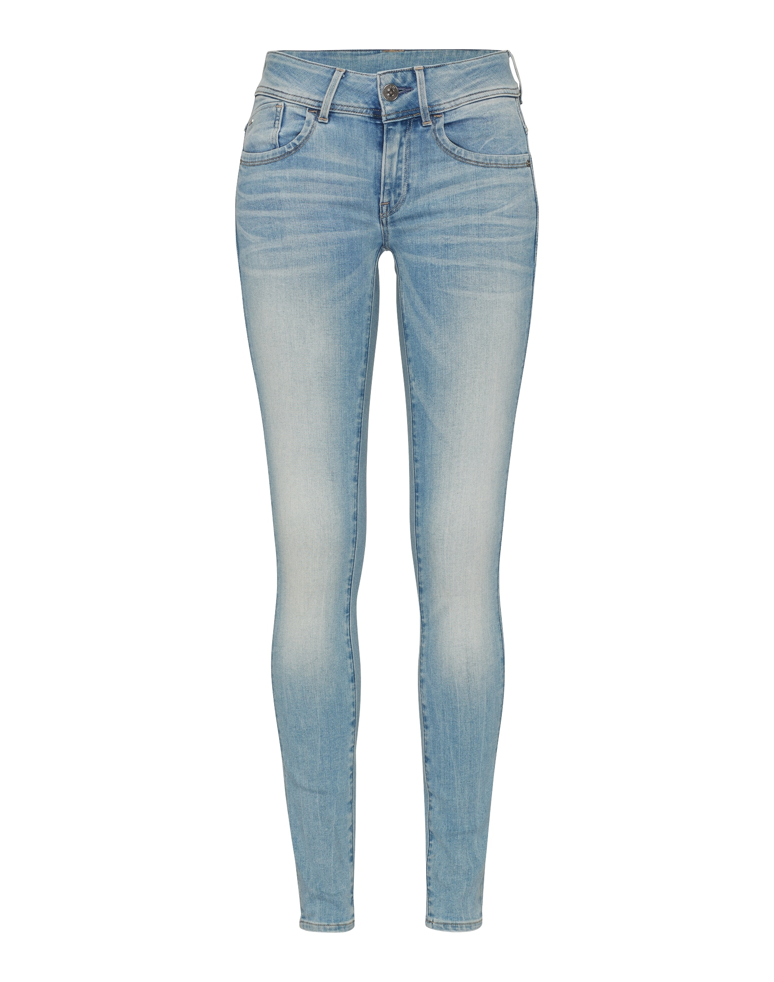 G-STAR RAW Dames Jeans Lynn Mid Slim blue denim