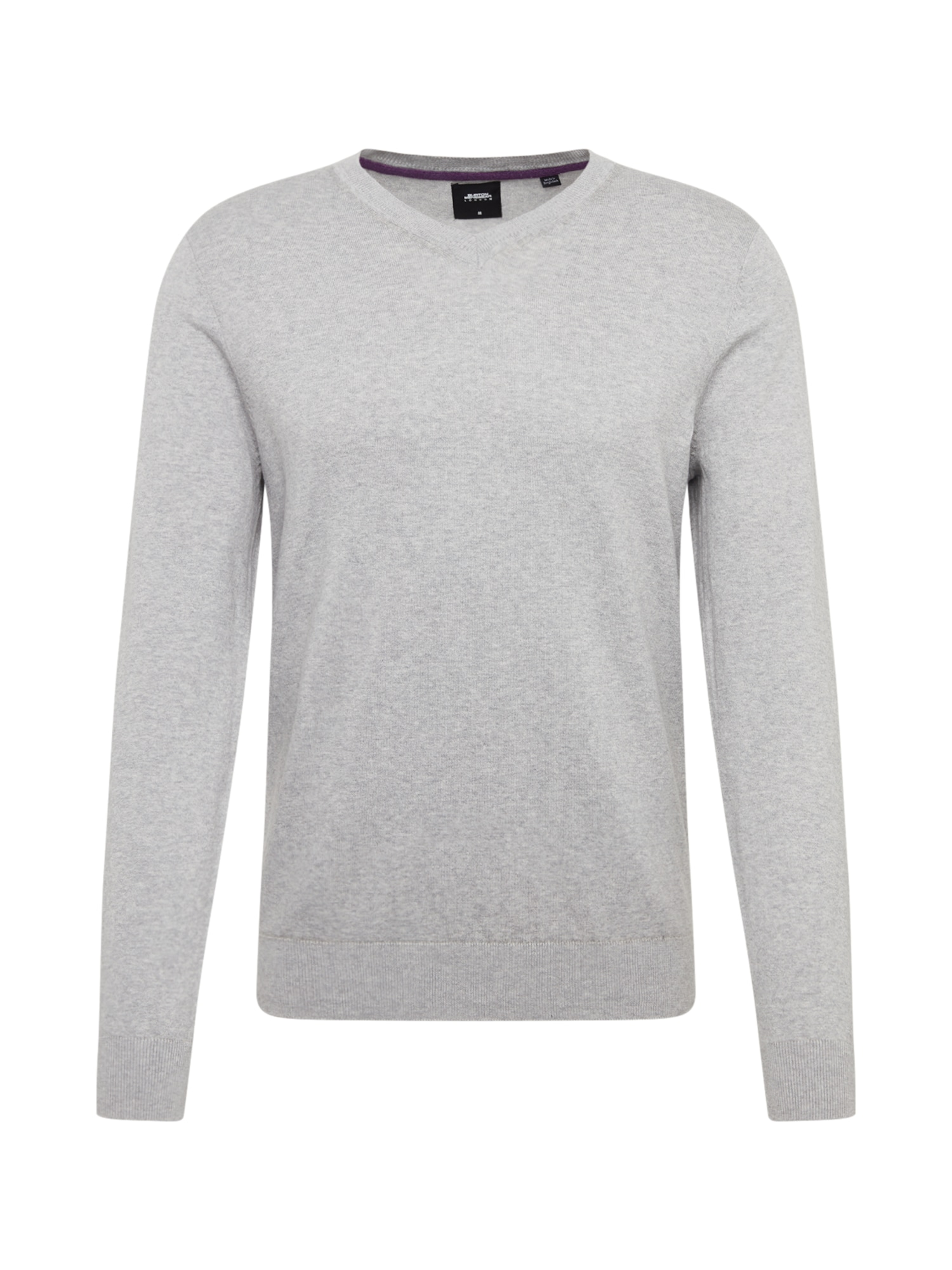 BURTON MENSWEAR LONDON Svetr 'core vee light grey'  šedá