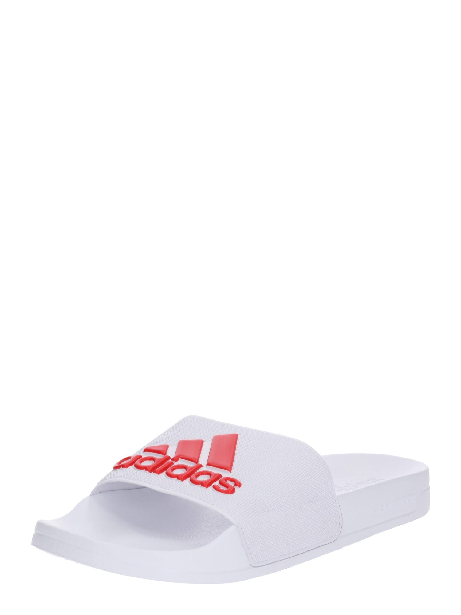 Plážovákoupací obuv ADILETTE SHOWER červená bílá ADIDAS PERFORMANCE