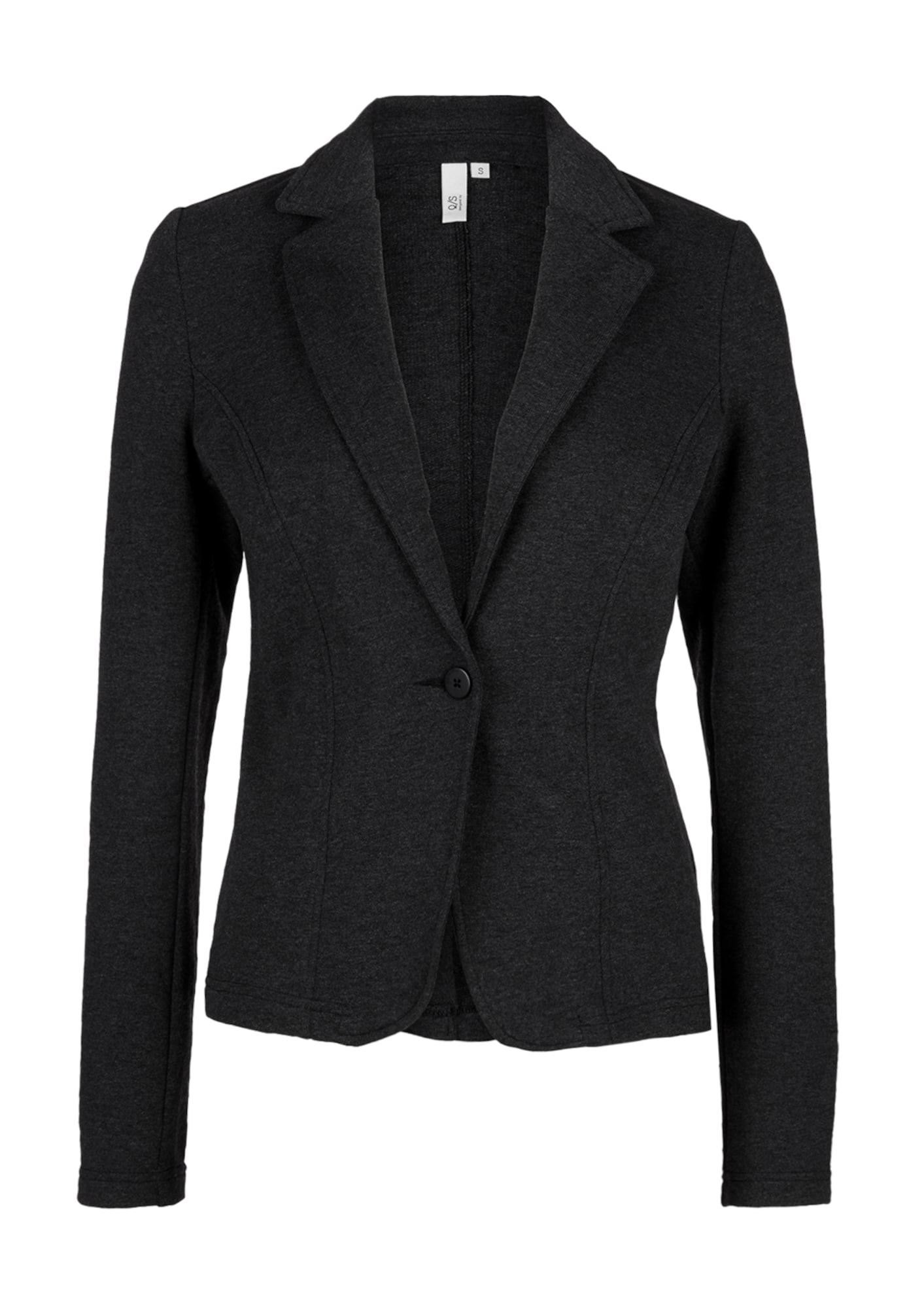 Sweatblazer | Bekleidung > Blazer | Schwarz | Q/S Designed By