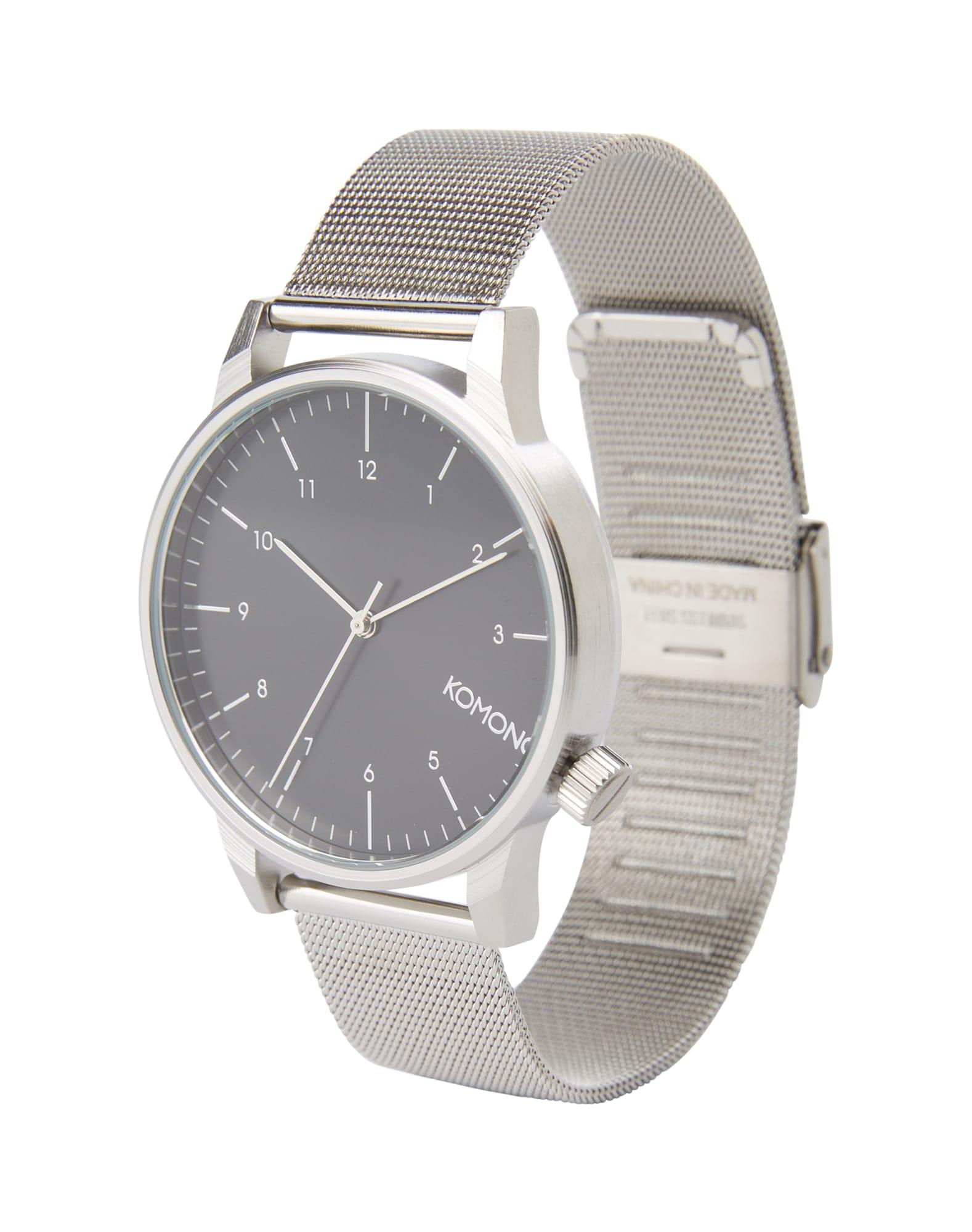 Analogové hodinky Winston Royale černá stříbrná Komono